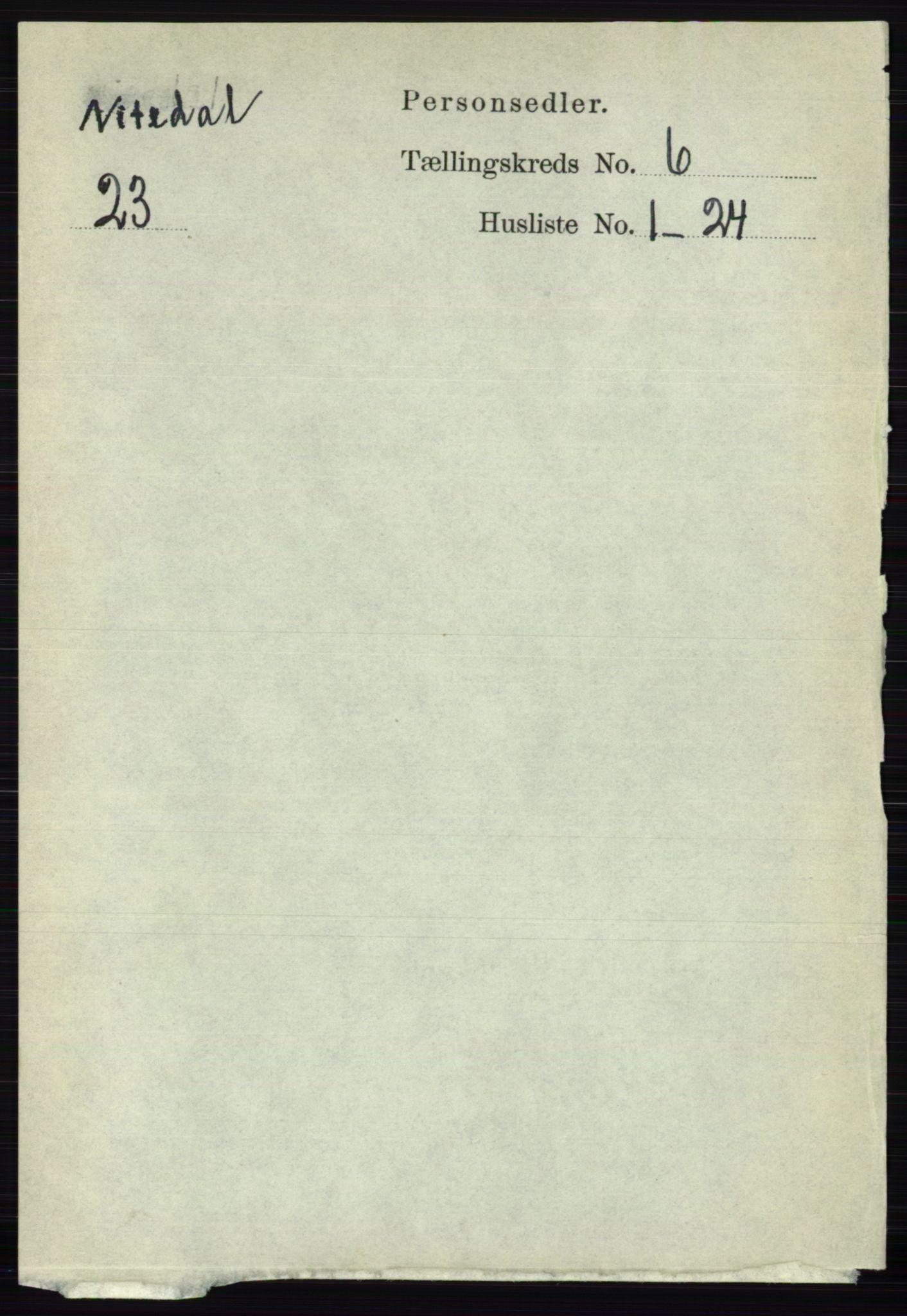 RA, Folketelling 1891 for 0233 Nittedal herred, 1891, s. 2609