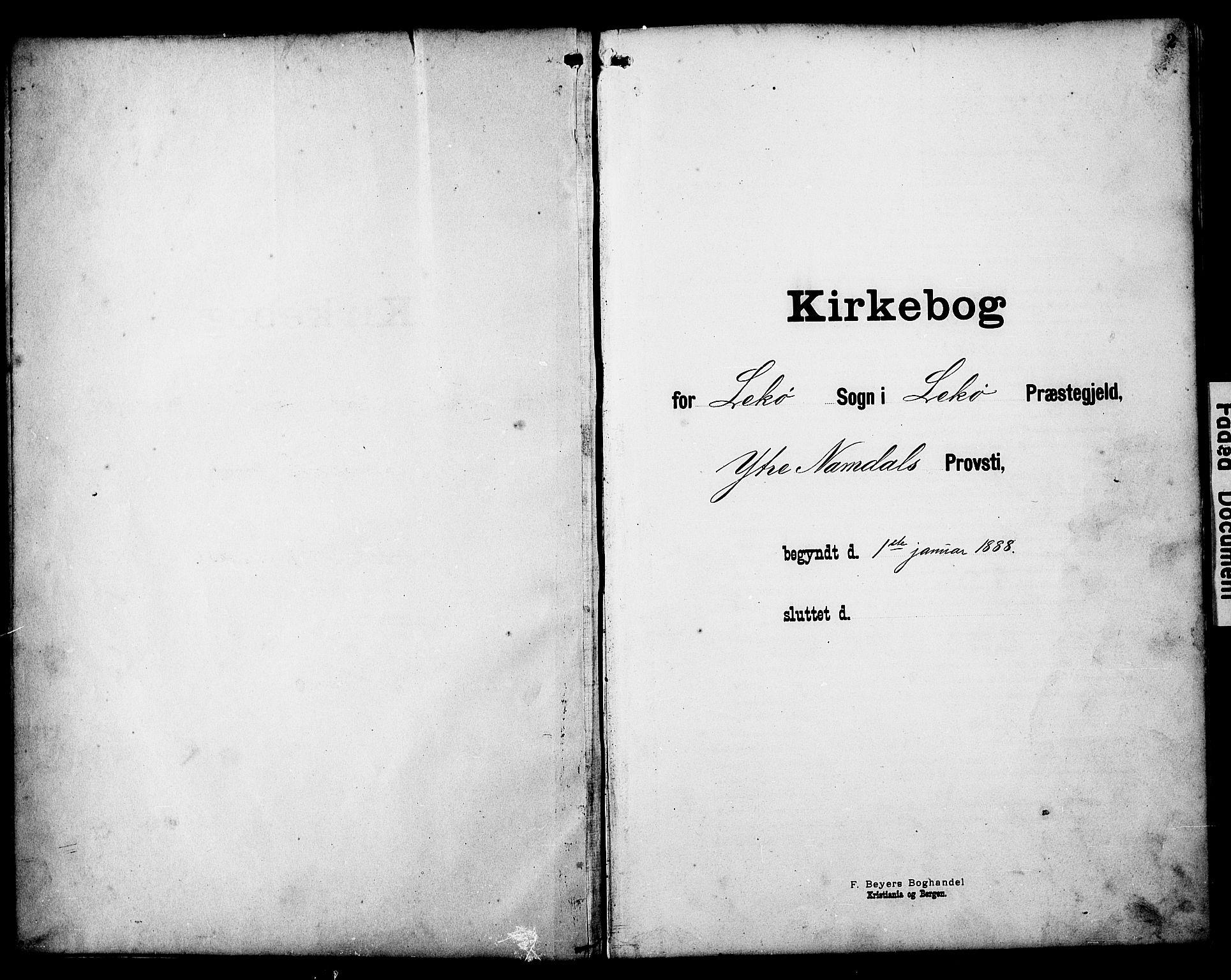 SAT, Ministerialprotokoller, klokkerbøker og fødselsregistre - Nord-Trøndelag, 788/L0701: Klokkerbok nr. 788C01, 1888-1913, s. 2