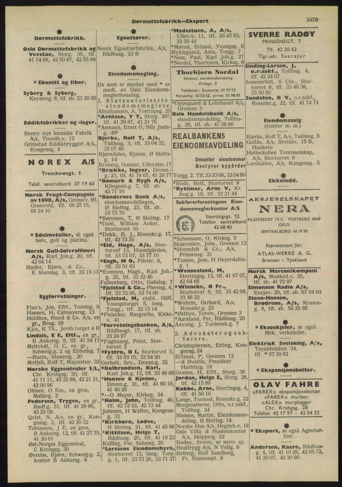 RA, Oslo adressebok (publikasjon)*, 1955, s. 2479