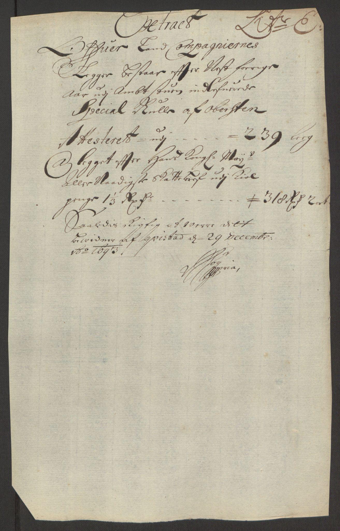 RA, Rentekammeret inntil 1814, Reviderte regnskaper, Fogderegnskap, R63/L4308: Fogderegnskap Inderøy, 1692-1694, s. 442