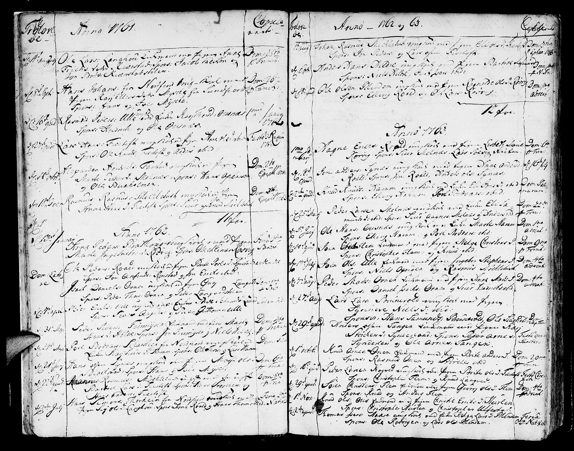 SAT, Ministerialprotokoller, klokkerbøker og fødselsregistre - Møre og Romsdal, 536/L0493: Ministerialbok nr. 536A02, 1739-1802, s. 18-19