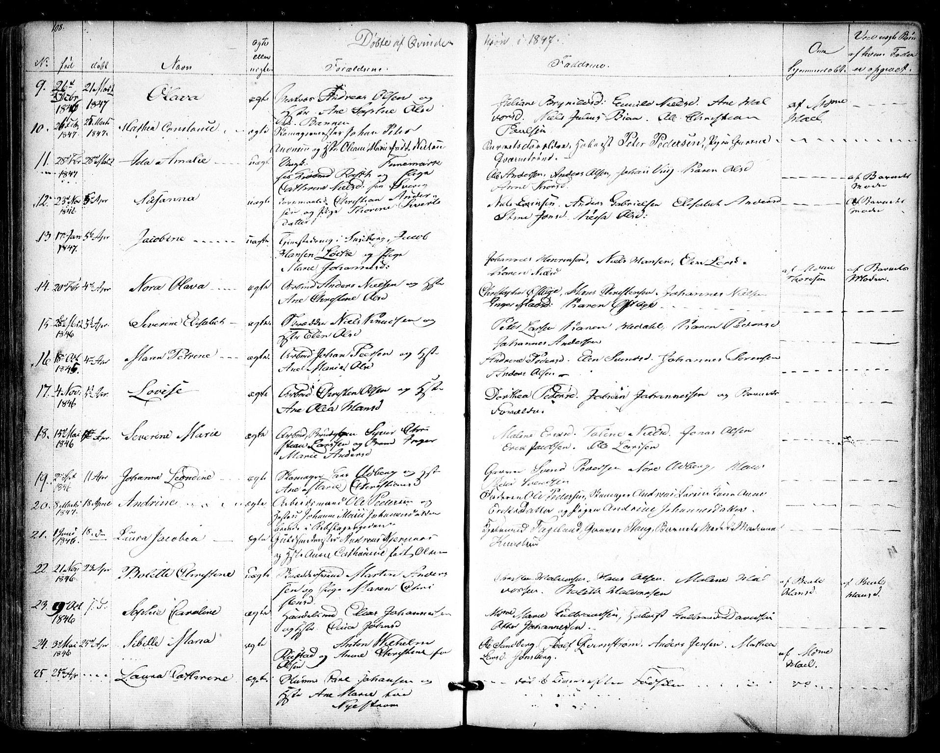 SAO, Halden prestekontor Kirkebøker, F/Fa/L0006: Ministerialbok nr. I 6, 1845-1856, s. 108
