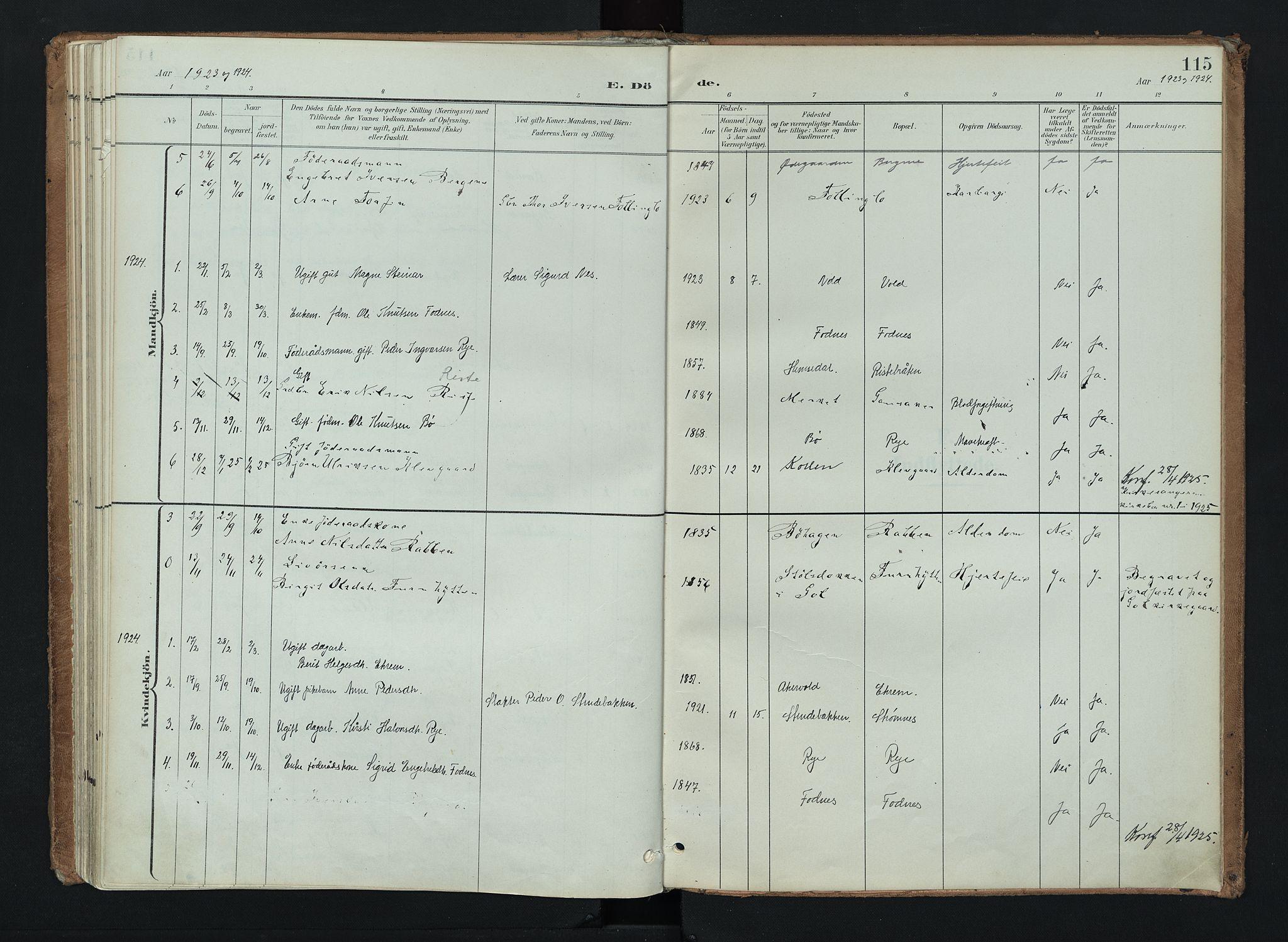 SAH, Nord-Aurdal prestekontor, Ministerialbok nr. 16, 1897-1925, s. 115