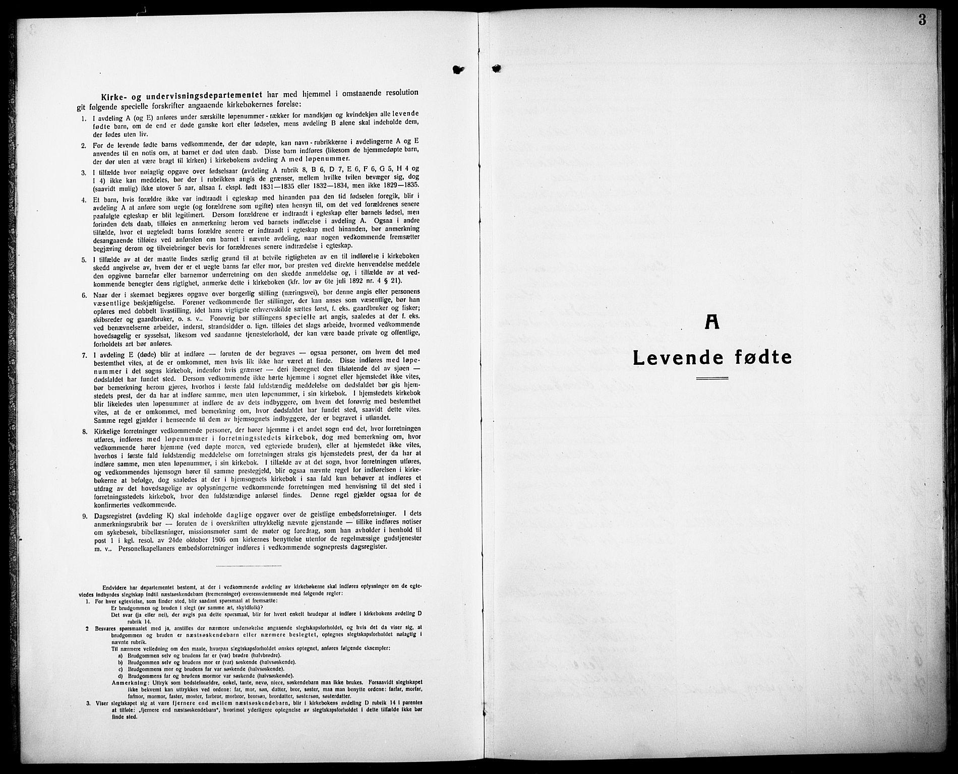 SAK, Herefoss sokneprestkontor, F/Fb/Fbb/L0004: Klokkerbok nr. B 4, 1917-1933, s. 3