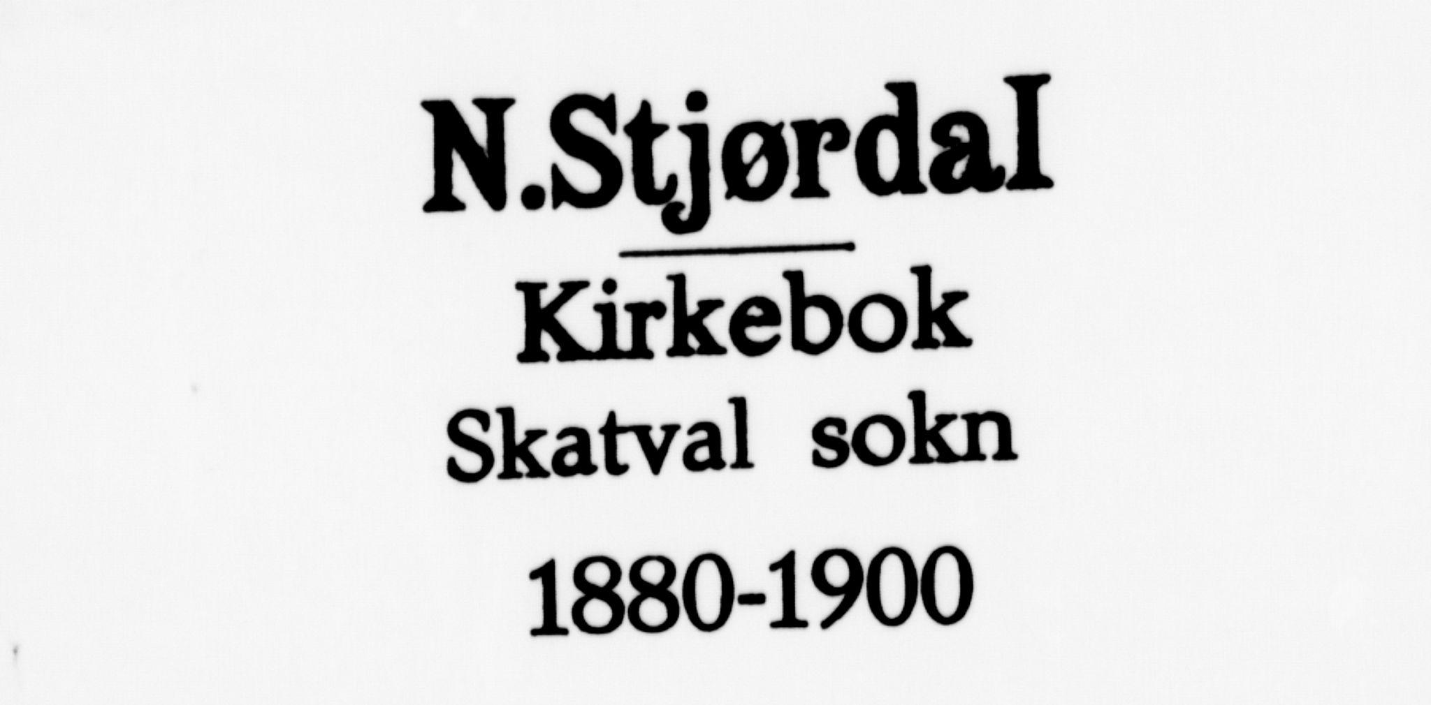 SAT, Ministerialprotokoller, klokkerbøker og fødselsregistre - Nord-Trøndelag, 712/L0100: Ministerialbok nr. 712A01, 1880-1900