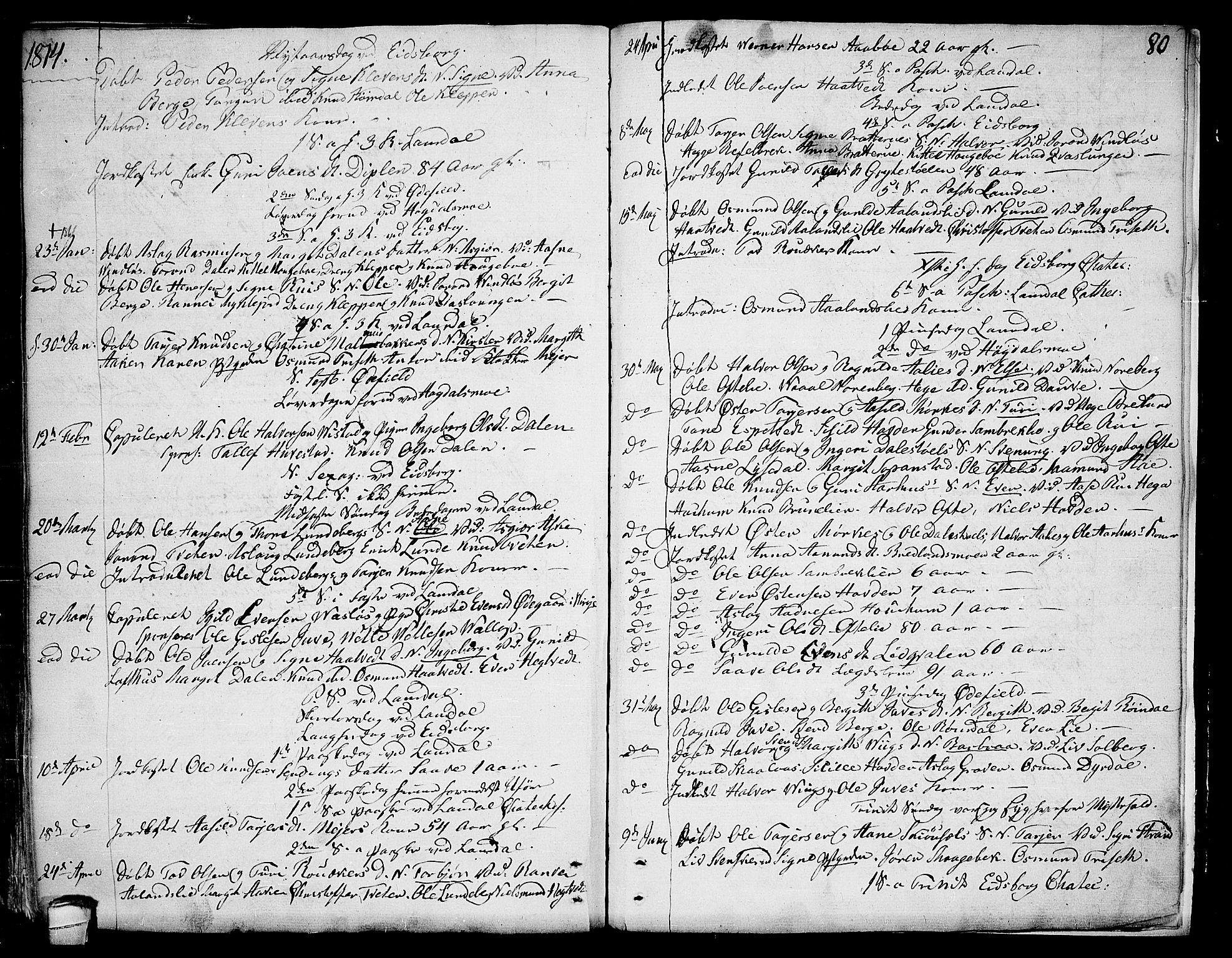 SAKO, Lårdal kirkebøker, F/Fa/L0004: Ministerialbok nr. I 4, 1790-1814, s. 80