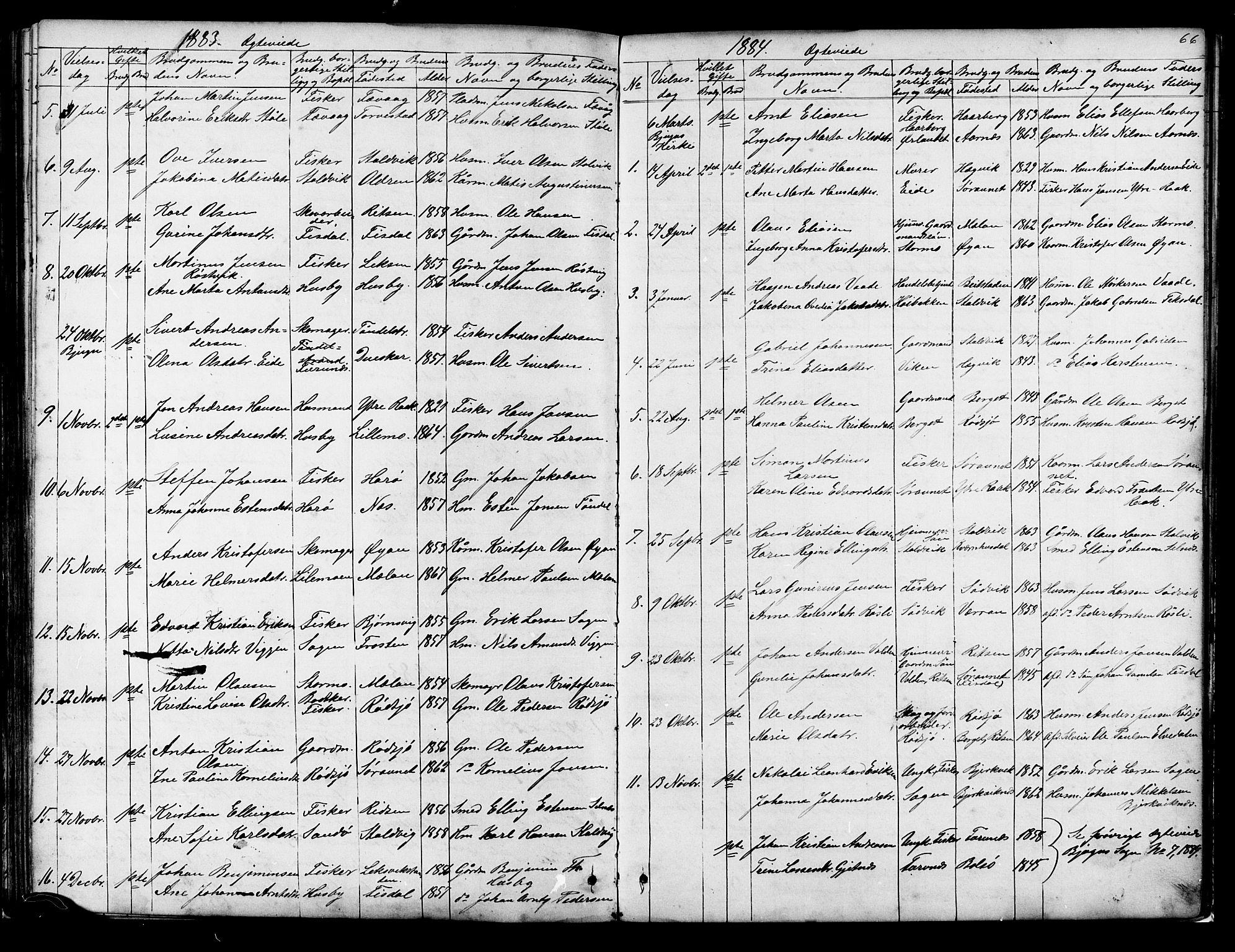 SAT, Ministerialprotokoller, klokkerbøker og fødselsregistre - Sør-Trøndelag, 653/L0657: Klokkerbok nr. 653C01, 1866-1893, s. 66