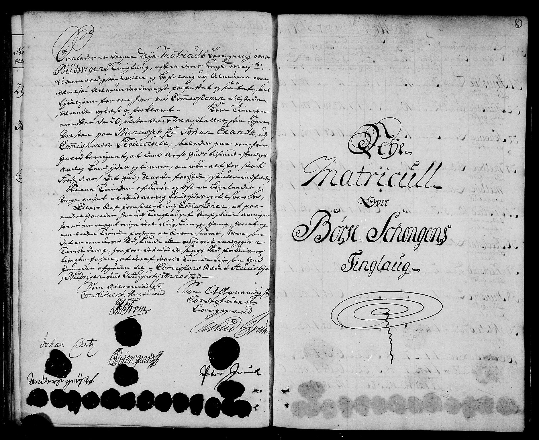 RA, Rentekammeret inntil 1814, Realistisk ordnet avdeling, N/Nb/Nbf/L0161: Strinda og Selbu matrikkelprotokoll, 1723, s. 4b-5a