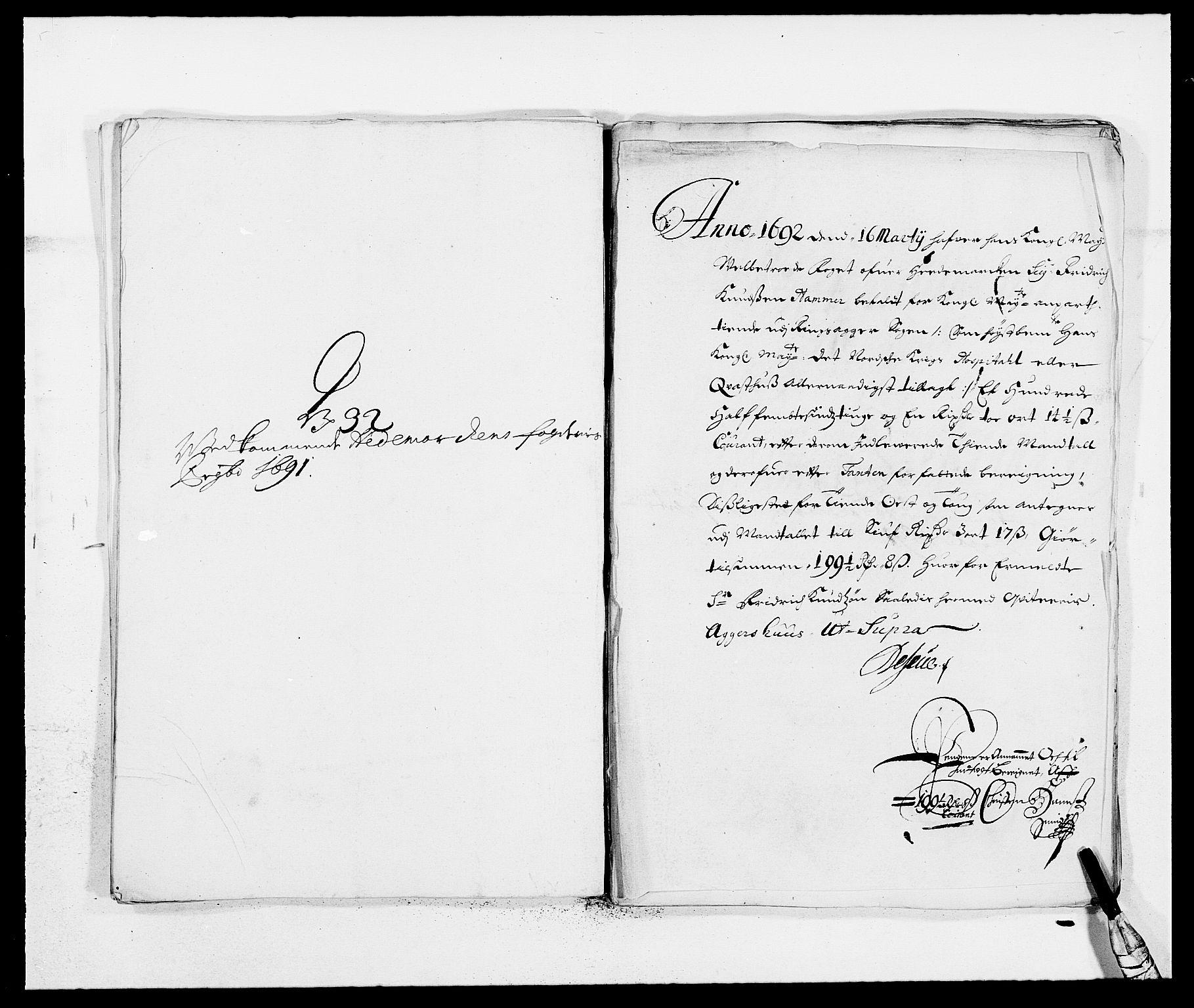 RA, Rentekammeret inntil 1814, Reviderte regnskaper, Fogderegnskap, R16/L1032: Fogderegnskap Hedmark, 1689-1692, s. 25