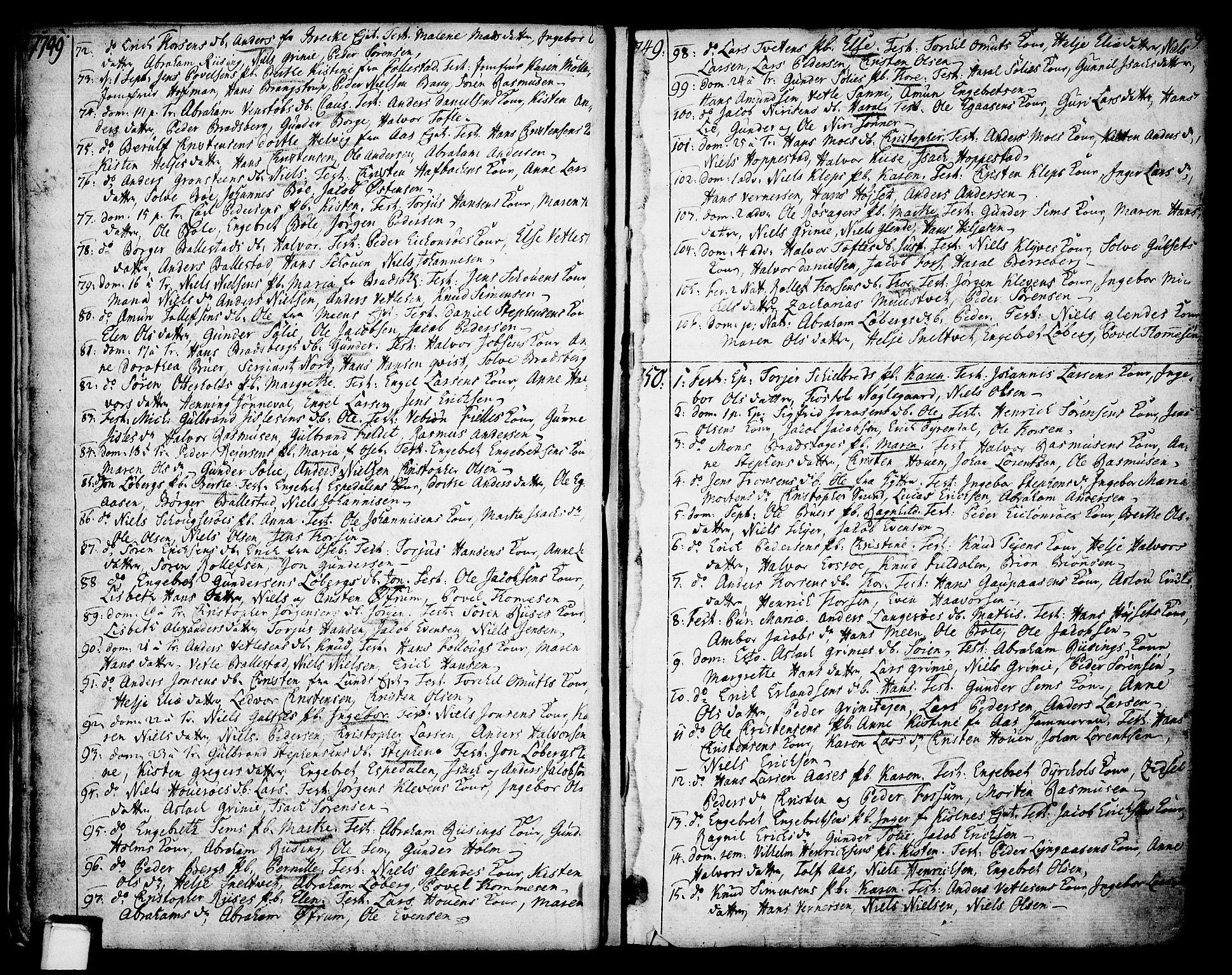 SAKO, Gjerpen kirkebøker, F/Fa/L0002: Ministerialbok nr. 2, 1747-1795, s. 9