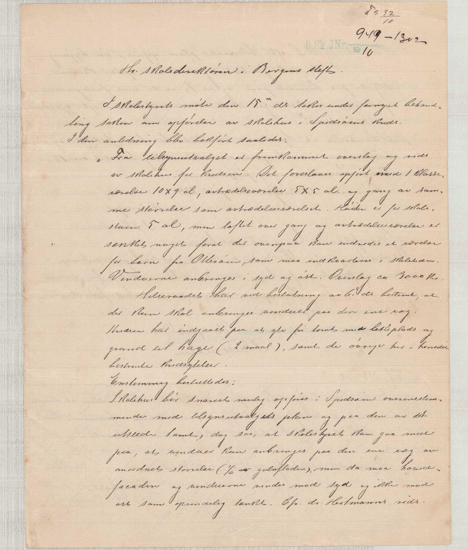 IKAH, Finnaas kommune. Formannskapet, D/Da/L0001: Korrespondanse / saker, 1909-1911, s. 20