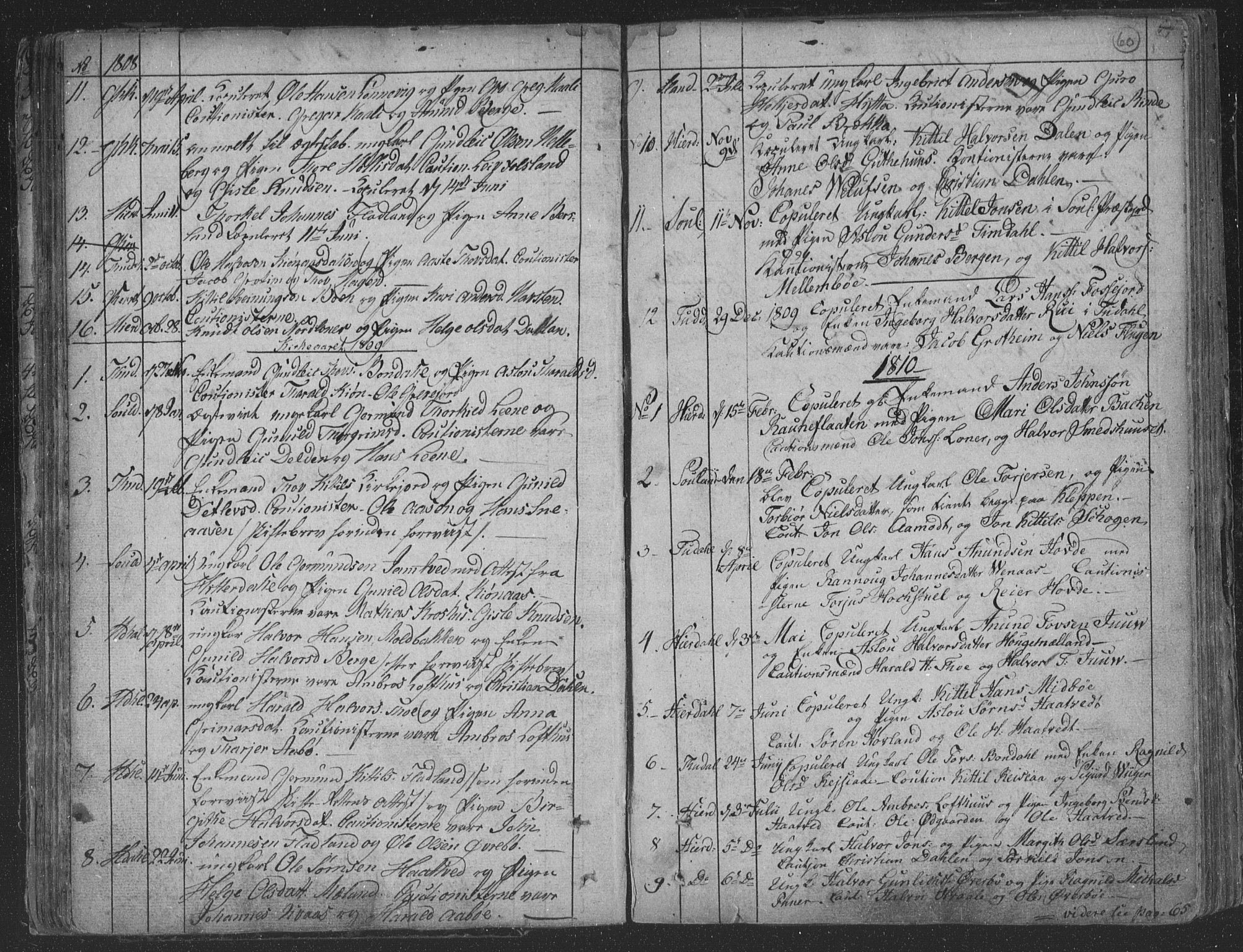 SAKO, Hjartdal kirkebøker, F/Fa/L0006: Ministerialbok nr. I 6, 1801-1814, s. 60