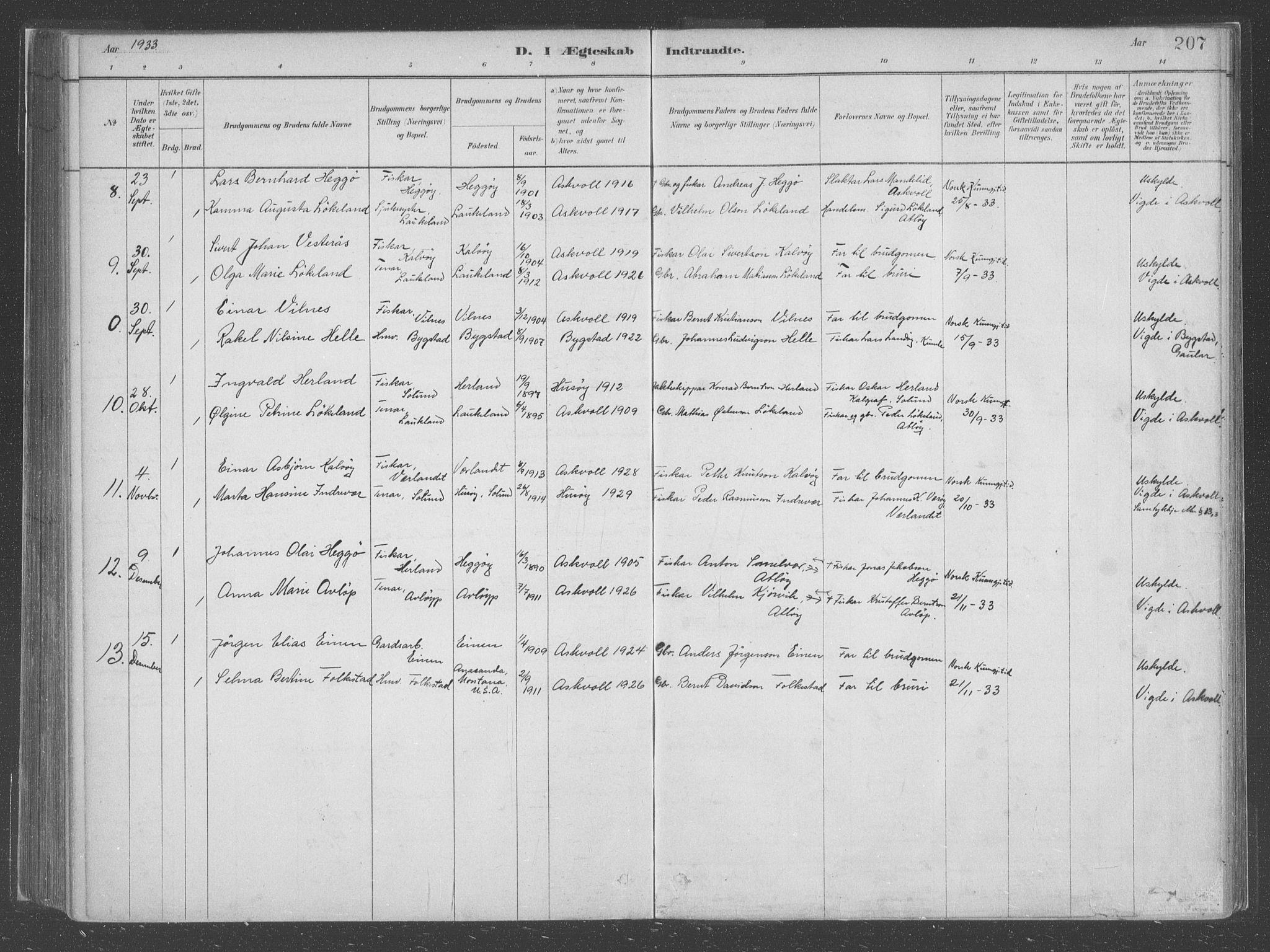 SAB, Askvoll Sokneprestembete, Ministerialbok nr. C  1, 1879-1922, s. 207