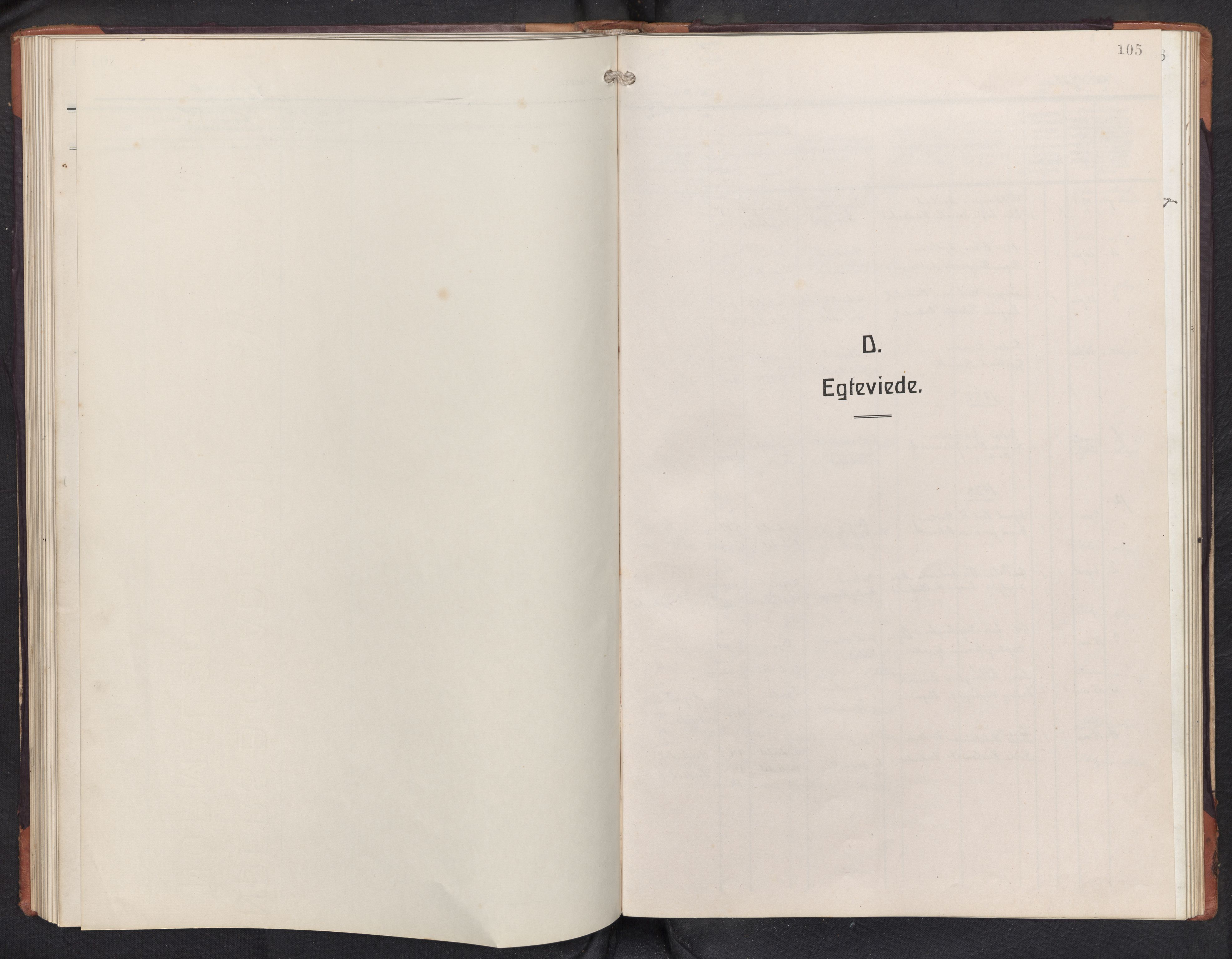 SAB, Aurland sokneprestembete, H/Hb/Hbd/L0003: Klokkerbok nr. D 3, 1920-1968, s. 104b-105a