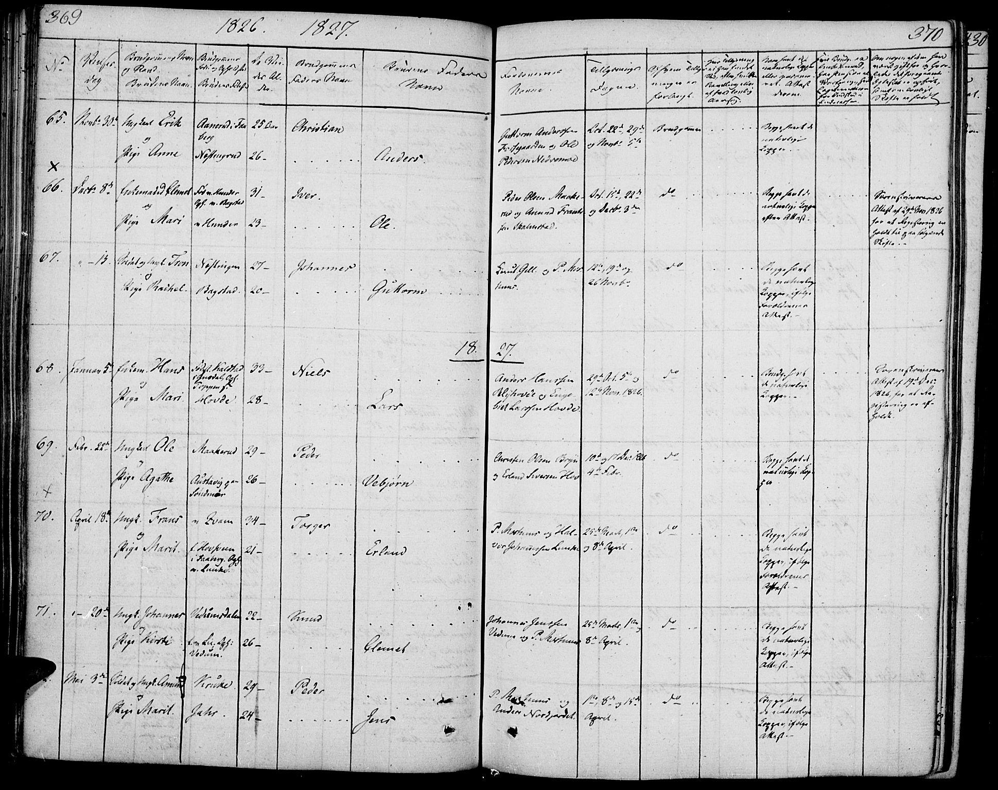 SAH, Øyer prestekontor, Ministerialbok nr. 4, 1824-1841, s. 369-370