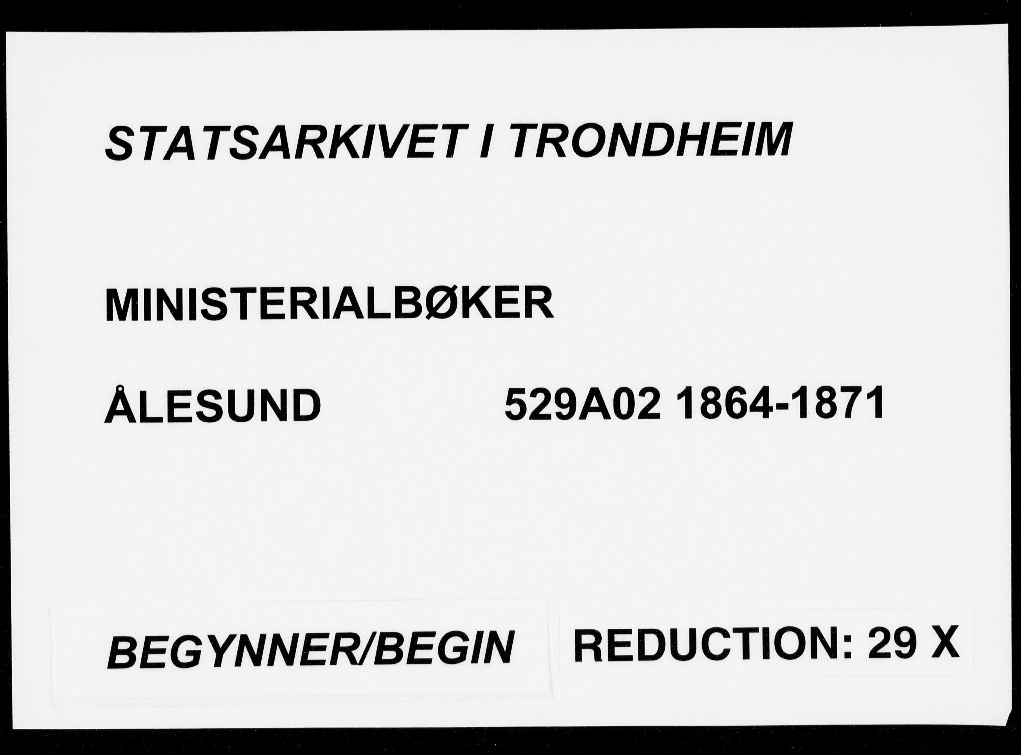 SAT, Ministerialprotokoller, klokkerbøker og fødselsregistre - Møre og Romsdal, 529/L0452: Ministerialbok nr. 529A02, 1864-1871
