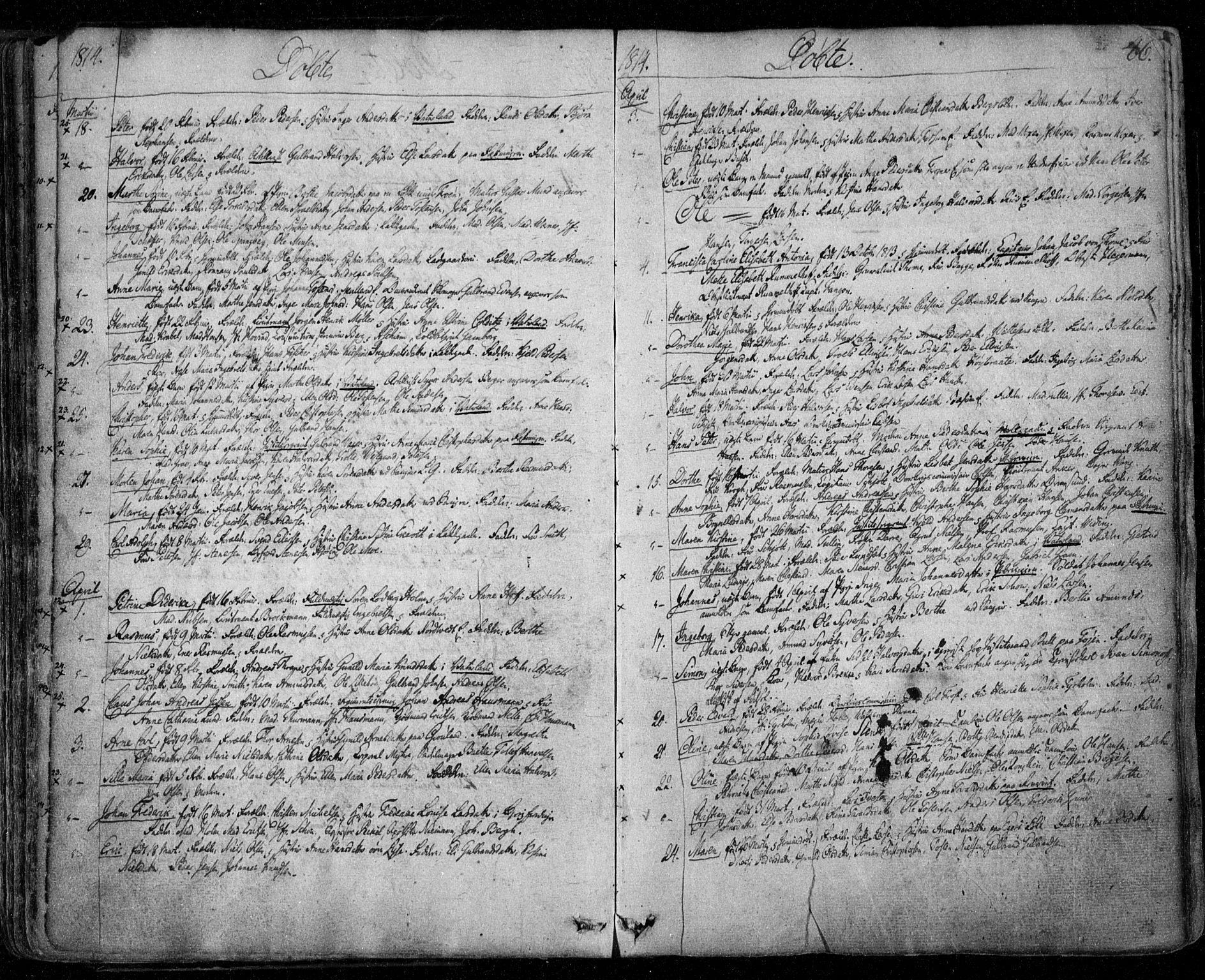 SAO, Aker prestekontor kirkebøker, F/L0011: Ministerialbok nr. 11, 1810-1819, s. 46