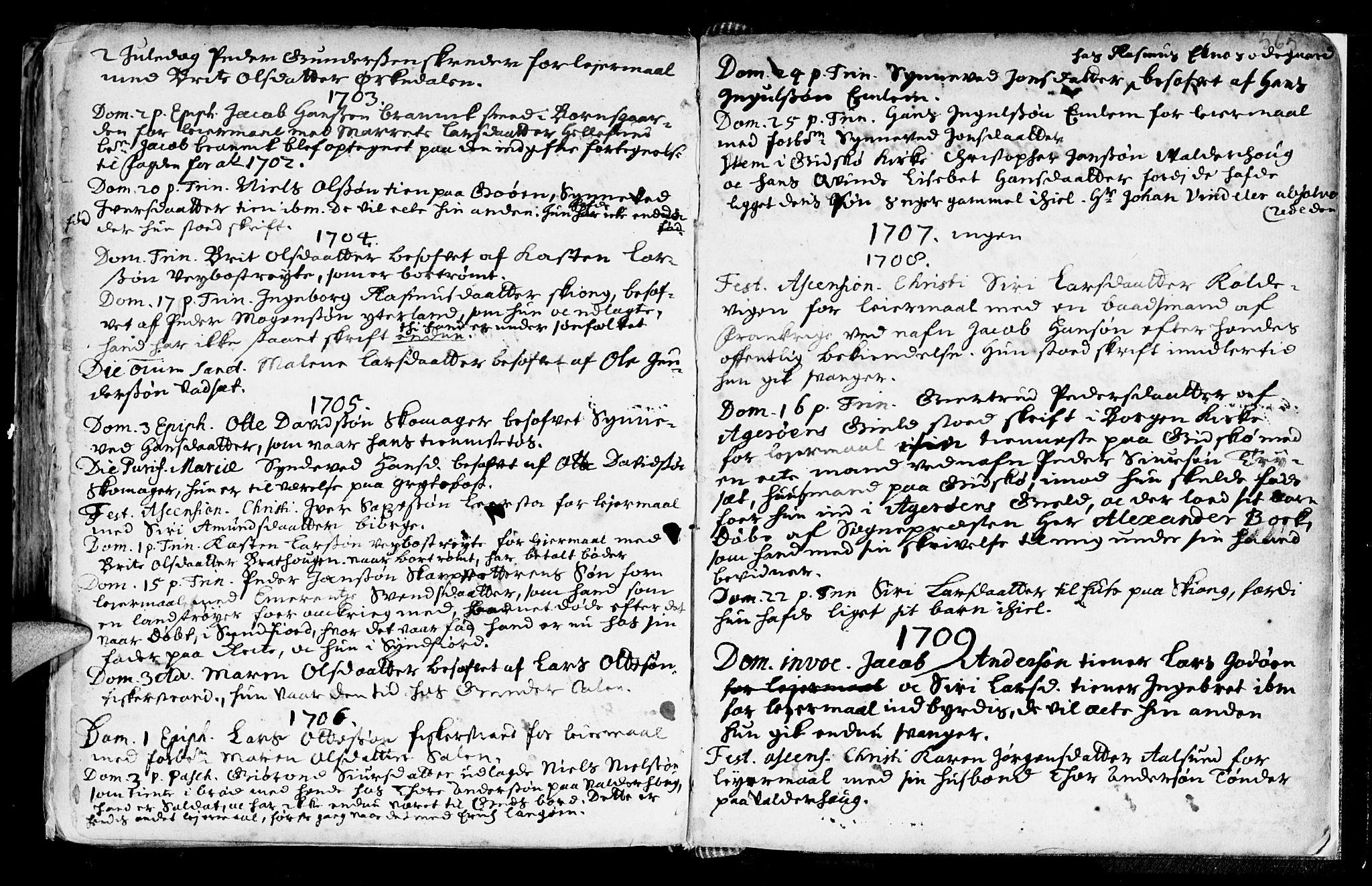 SAT, Ministerialprotokoller, klokkerbøker og fødselsregistre - Møre og Romsdal, 528/L0390: Ministerialbok nr. 528A01, 1698-1739, s. 564-565