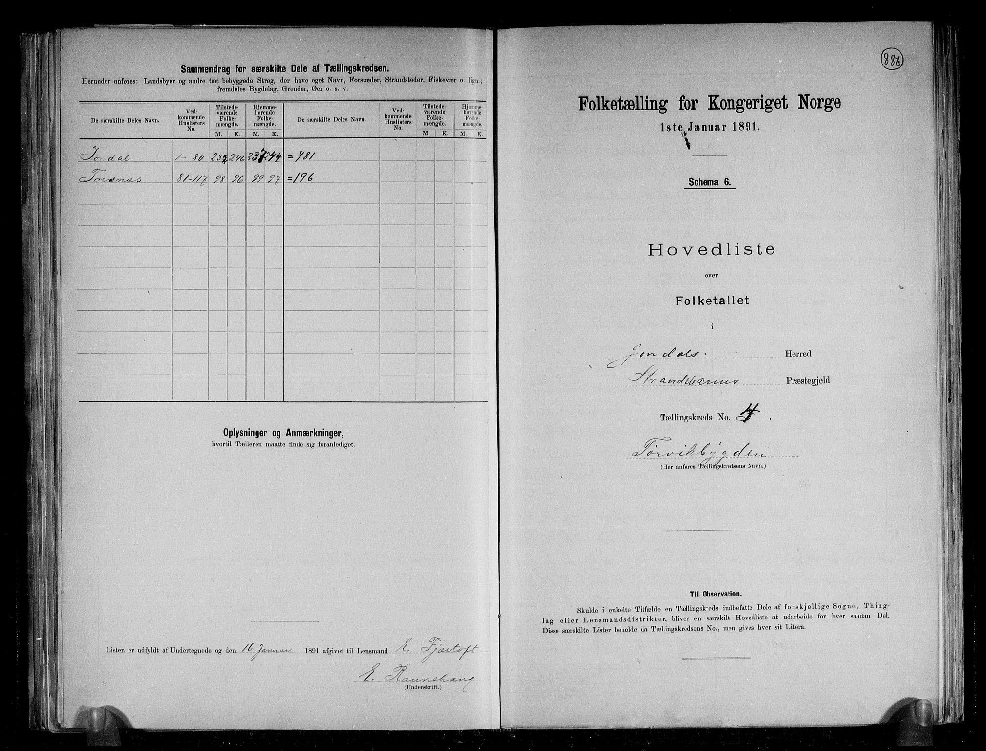 RA, Folketelling 1891 for 1227 Jondal herred, 1891, s. 13