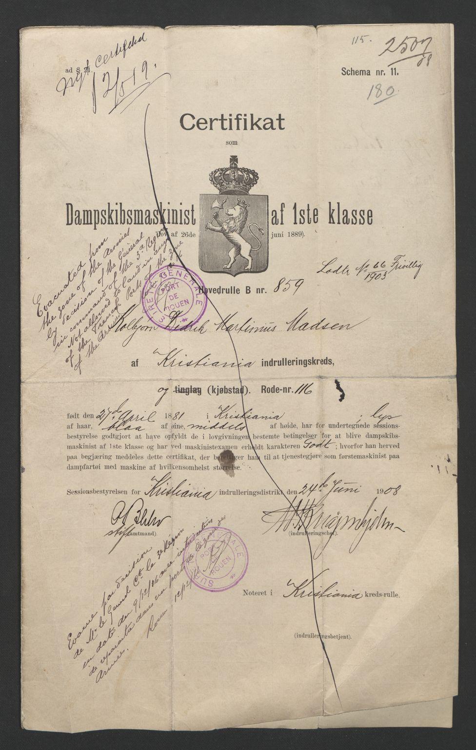 SAO, Oslo sjømannskontor, F/Fd/L0001: B-rulle, 1891-1906, s. 673-674