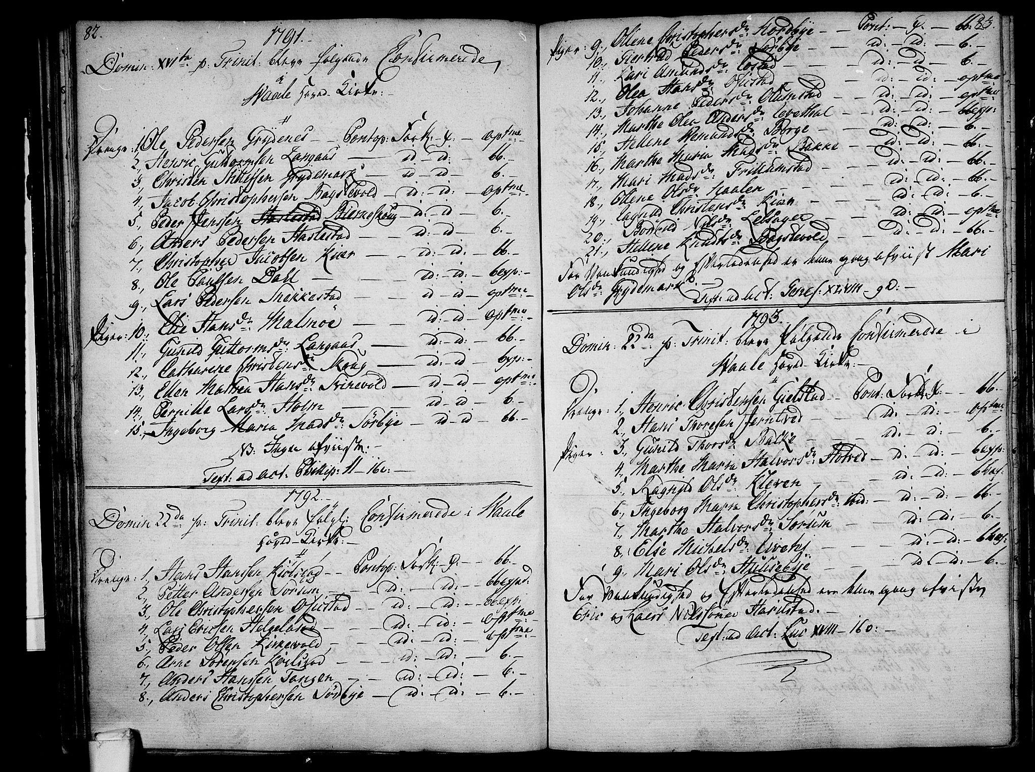 SAKO, Våle kirkebøker, F/Fa/L0005: Ministerialbok nr. I 5, 1773-1808, s. 82-83