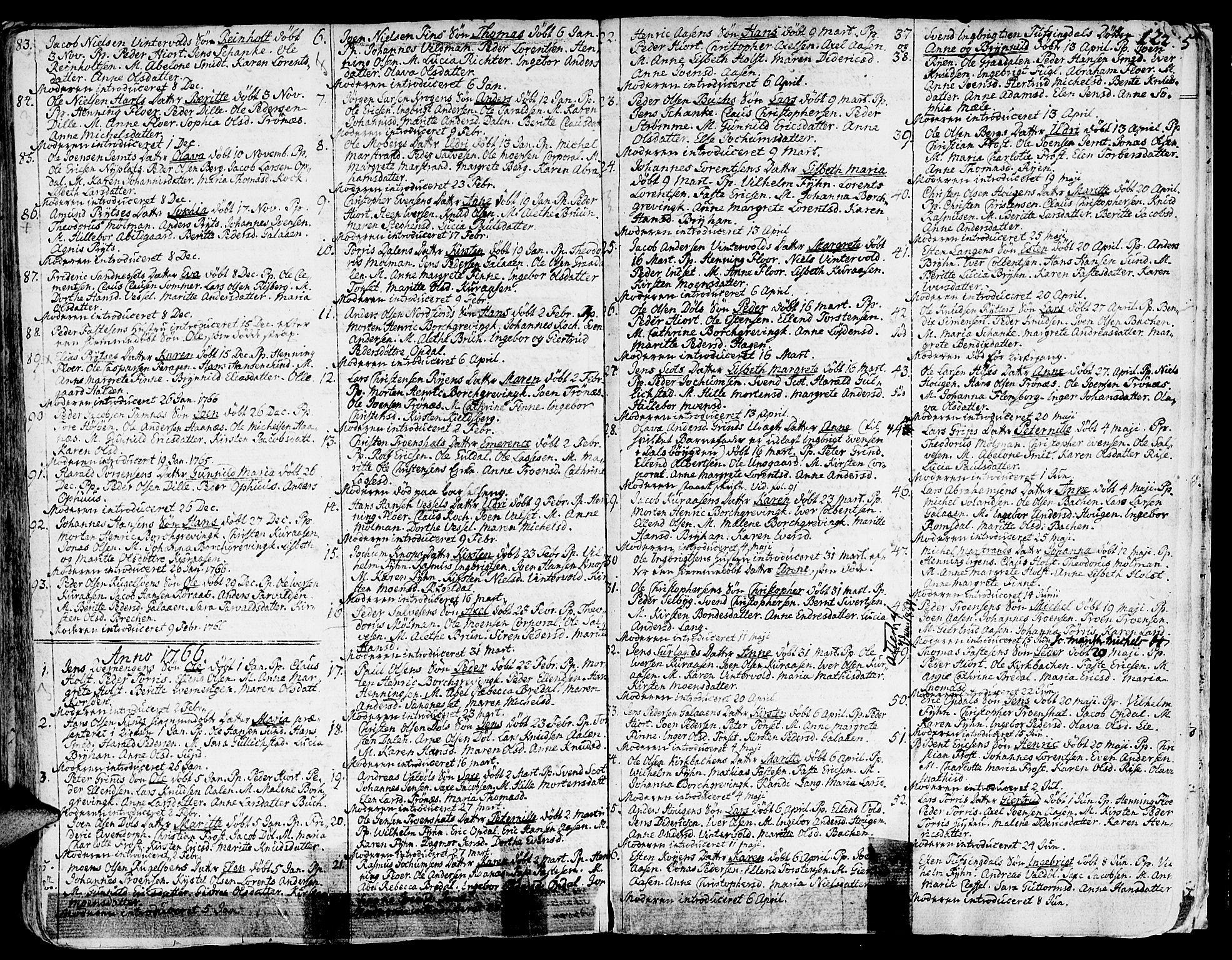 SAT, Ministerialprotokoller, klokkerbøker og fødselsregistre - Sør-Trøndelag, 681/L0925: Ministerialbok nr. 681A03, 1727-1766, s. 124