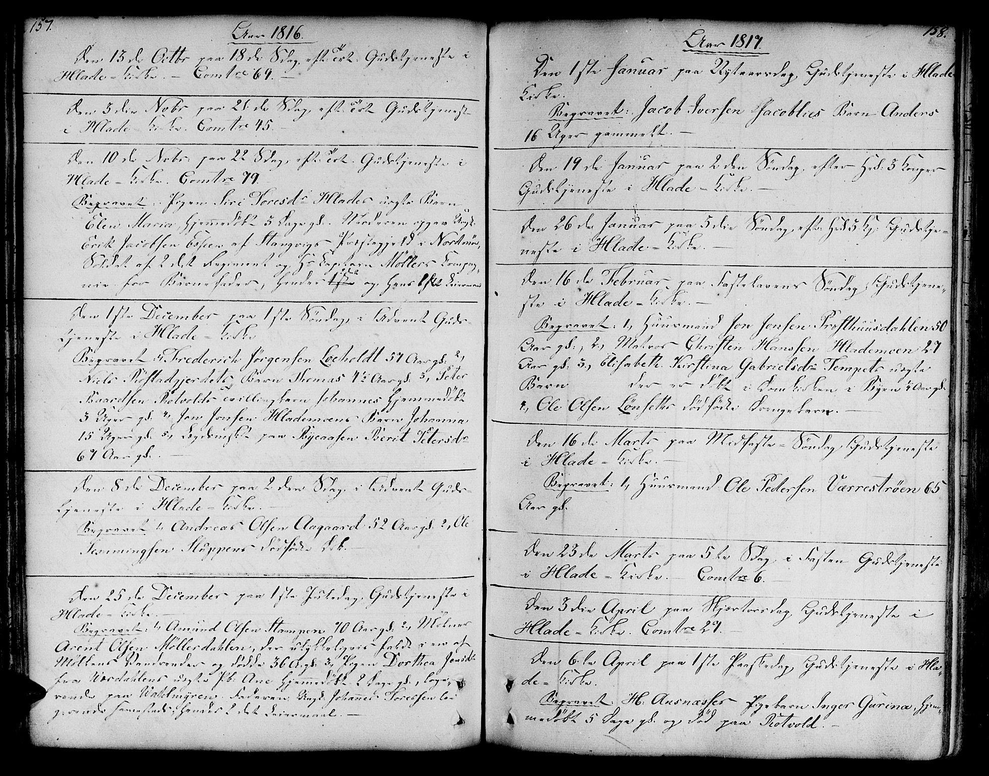 SAT, Ministerialprotokoller, klokkerbøker og fødselsregistre - Sør-Trøndelag, 606/L0280: Ministerialbok nr. 606A02 /1, 1781-1817, s. 157-158