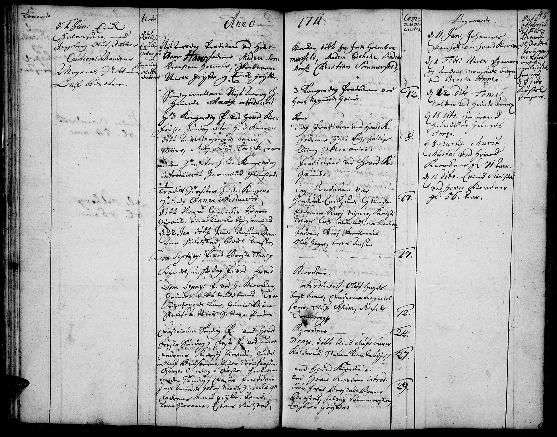 SAH, Vardal prestekontor, H/Ha/Haa/L0001: Ministerialbok nr. 1, 1706-1748, s. 25