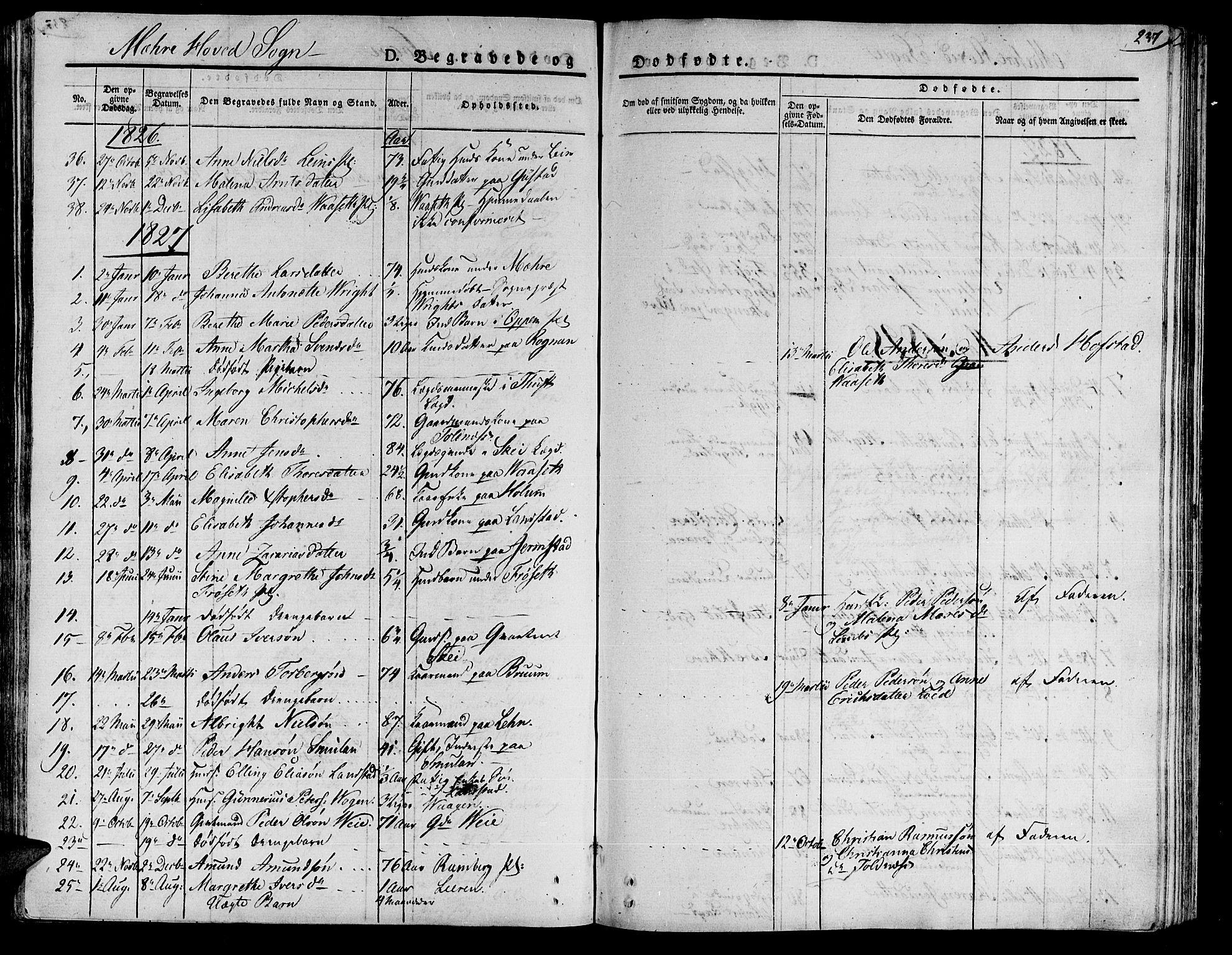 SAT, Ministerialprotokoller, klokkerbøker og fødselsregistre - Nord-Trøndelag, 735/L0336: Ministerialbok nr. 735A05 /1, 1825-1835, s. 237