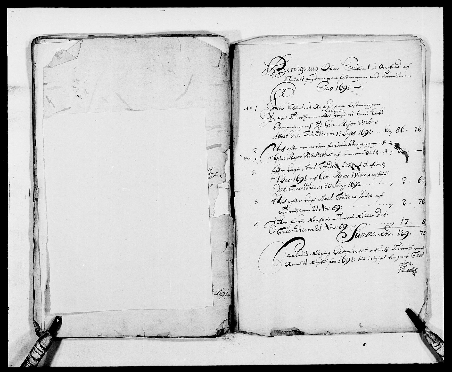 RA, Rentekammeret inntil 1814, Reviderte regnskaper, Fogderegnskap, R62/L4184: Fogderegnskap Stjørdal og Verdal, 1690-1691, s. 477