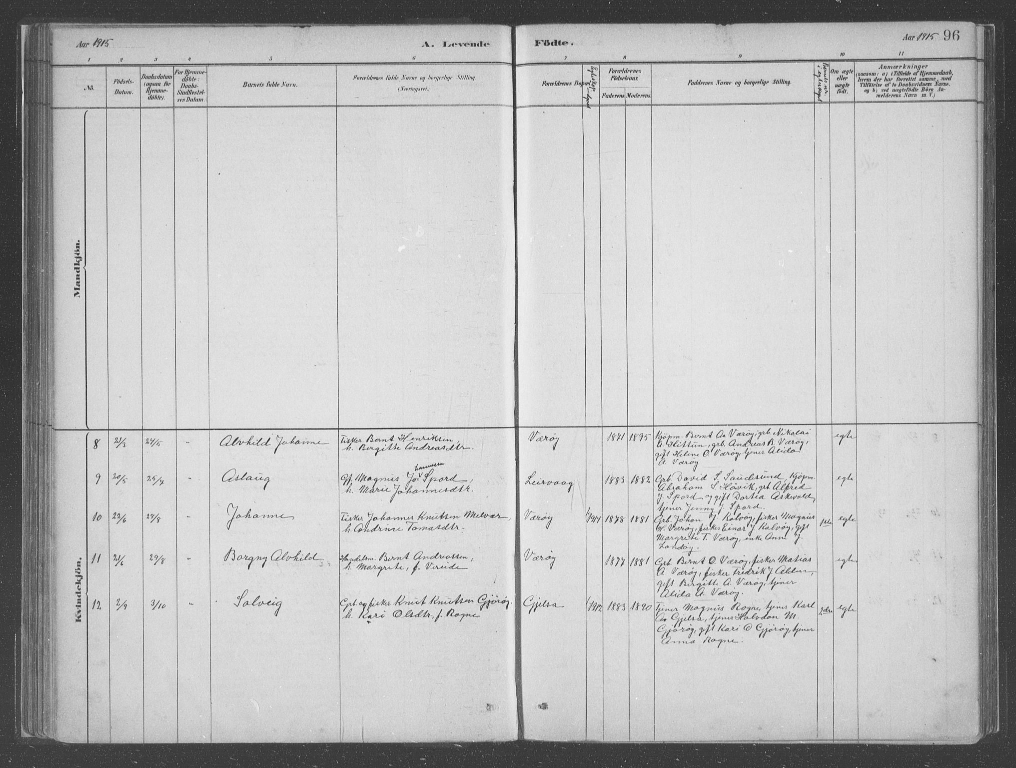 SAB, Askvoll Sokneprestembete, Ministerialbok nr. C  1, 1879-1922, s. 96