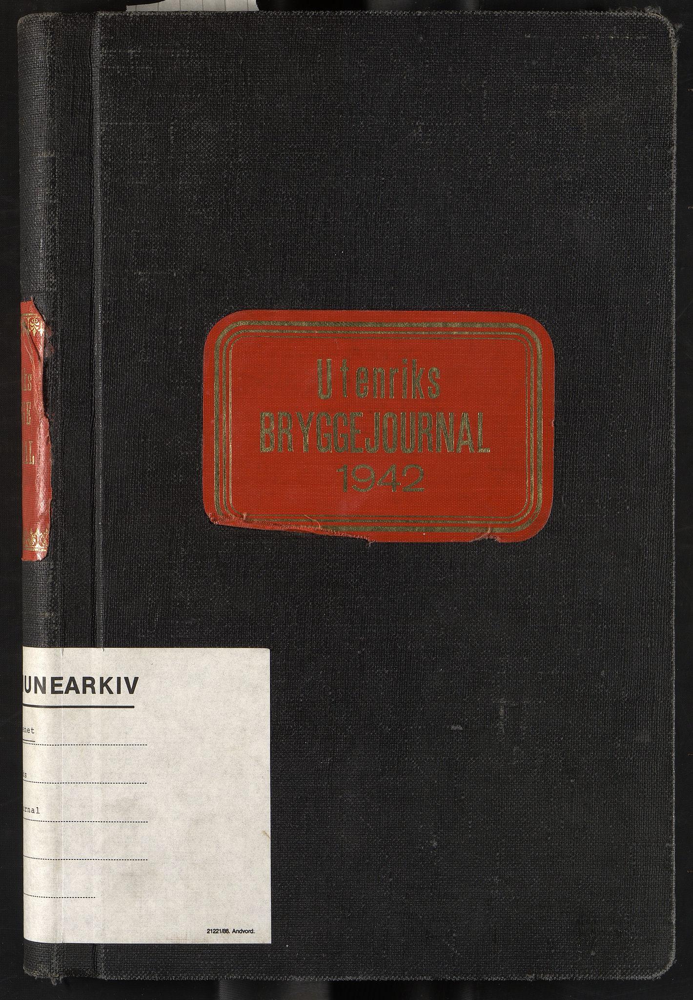 OBA, Oslo havnevesen, Fa/Fac/L0056: Utenriks bryggejournal, 1942