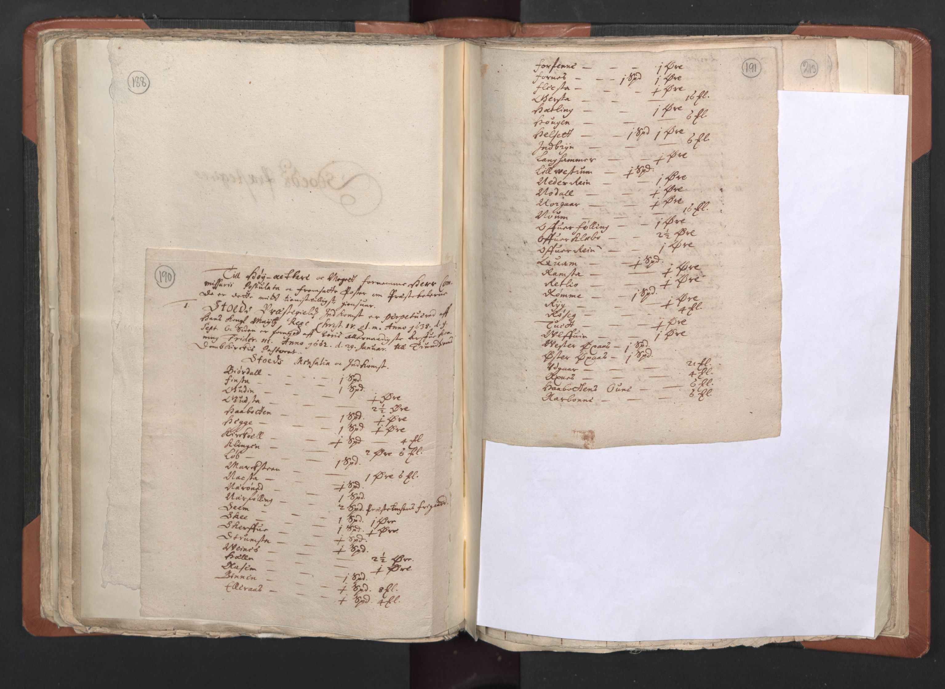 RA, Sogneprestenes manntall 1664-1666, nr. 33: Innherad prosti, 1664-1666, s. 190-191