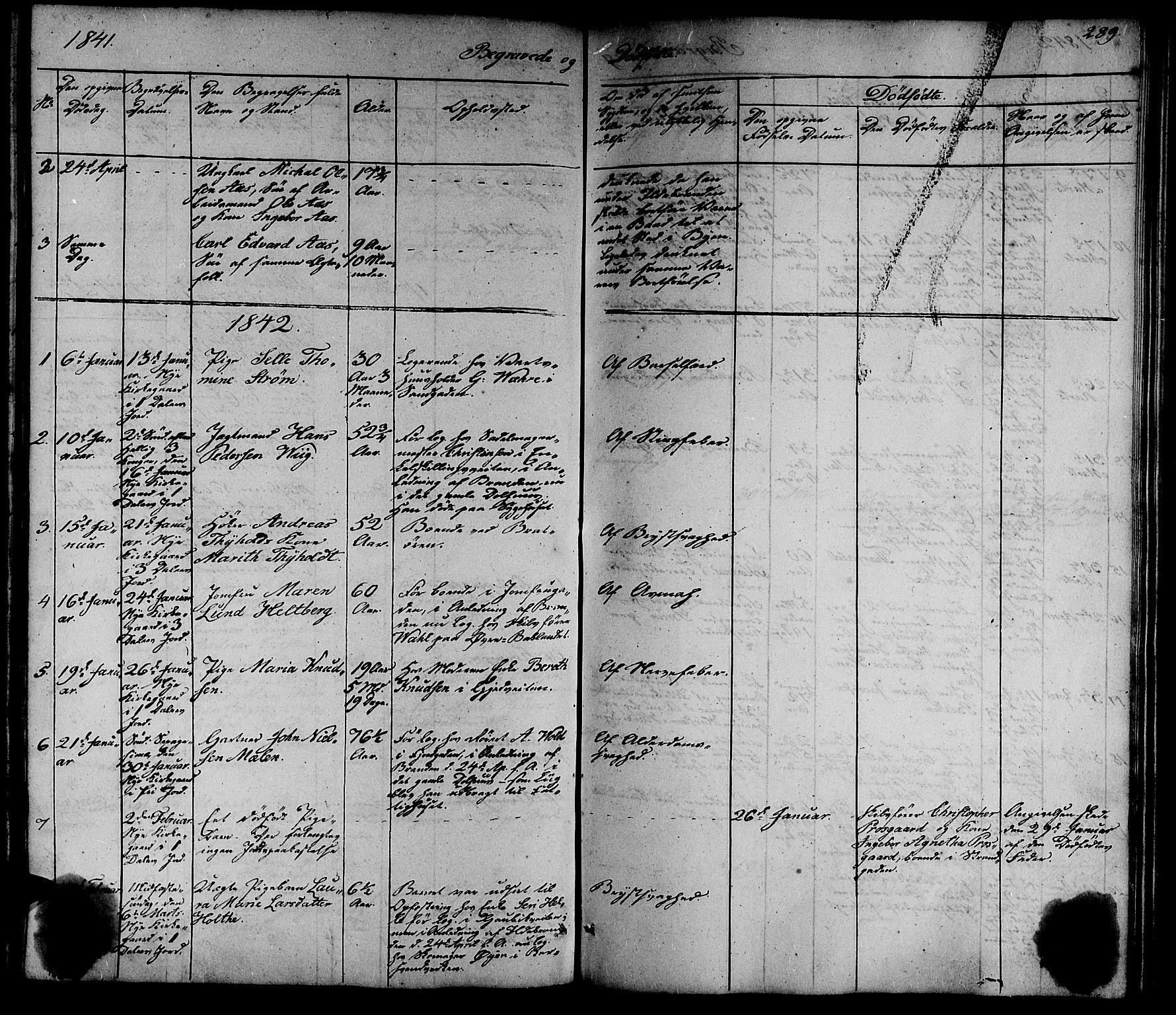 SAT, Ministerialprotokoller, klokkerbøker og fødselsregistre - Sør-Trøndelag, 602/L0136: Klokkerbok nr. 602C04, 1833-1845, s. 289