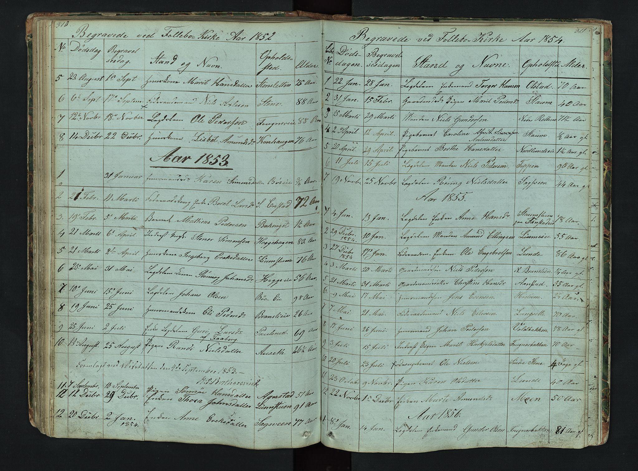 SAH, Gausdal prestekontor, Klokkerbok nr. 6, 1846-1893, s. 310-311