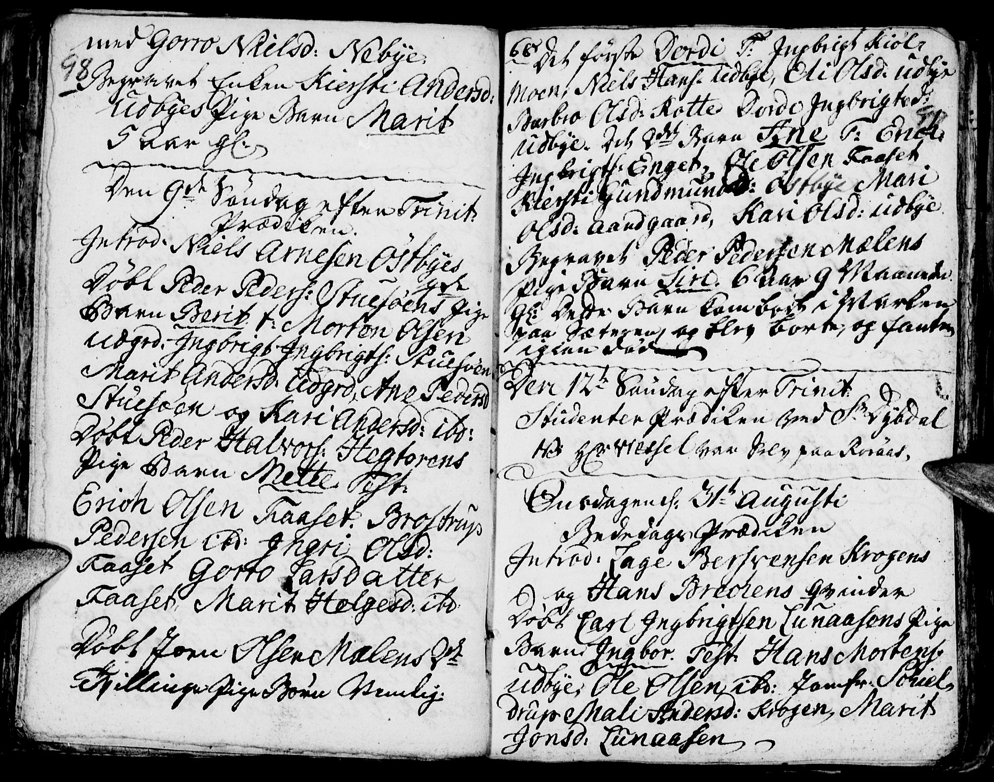 SAH, Tynset prestekontor, Ministerialbok nr. 6, 1763-1779, s. 98-99