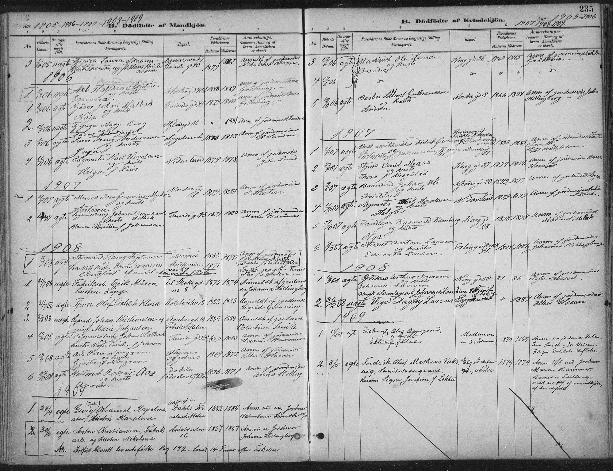 SAT, Ministerialprotokoller, klokkerbøker og fødselsregistre - Sør-Trøndelag, 601/L0062: Ministerialbok nr. 601A30, 1891-1911, s. 235