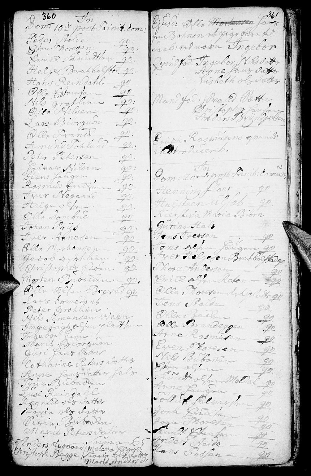 SAH, Kvikne prestekontor, Ministerialbok nr. 1, 1740-1756, s. 360-361