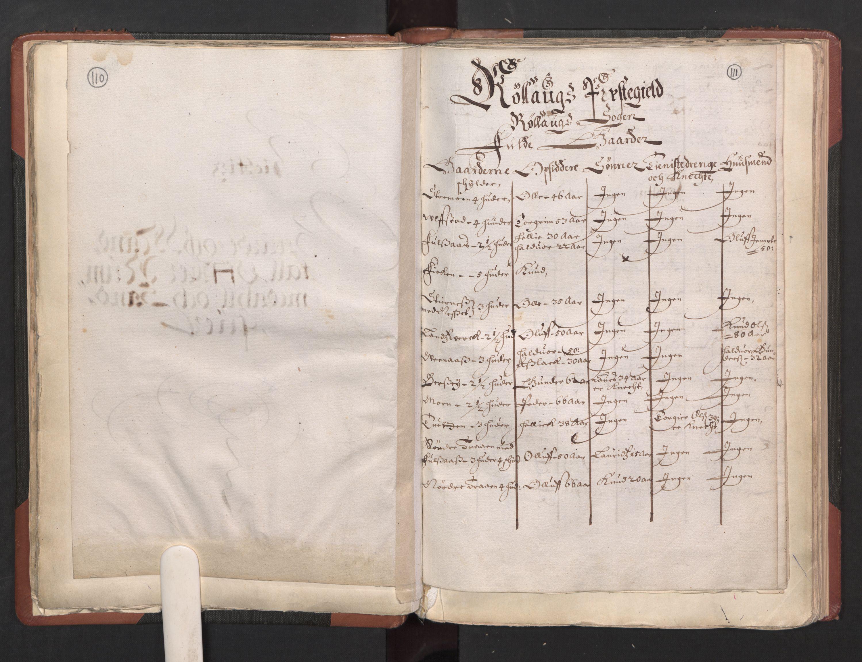 RA, Fogdenes og sorenskrivernes manntall 1664-1666, nr. 5: Fogderier (len og skipreider) i nåværende Buskerud fylke og Vestfold fylke, 1664, s. 110-111