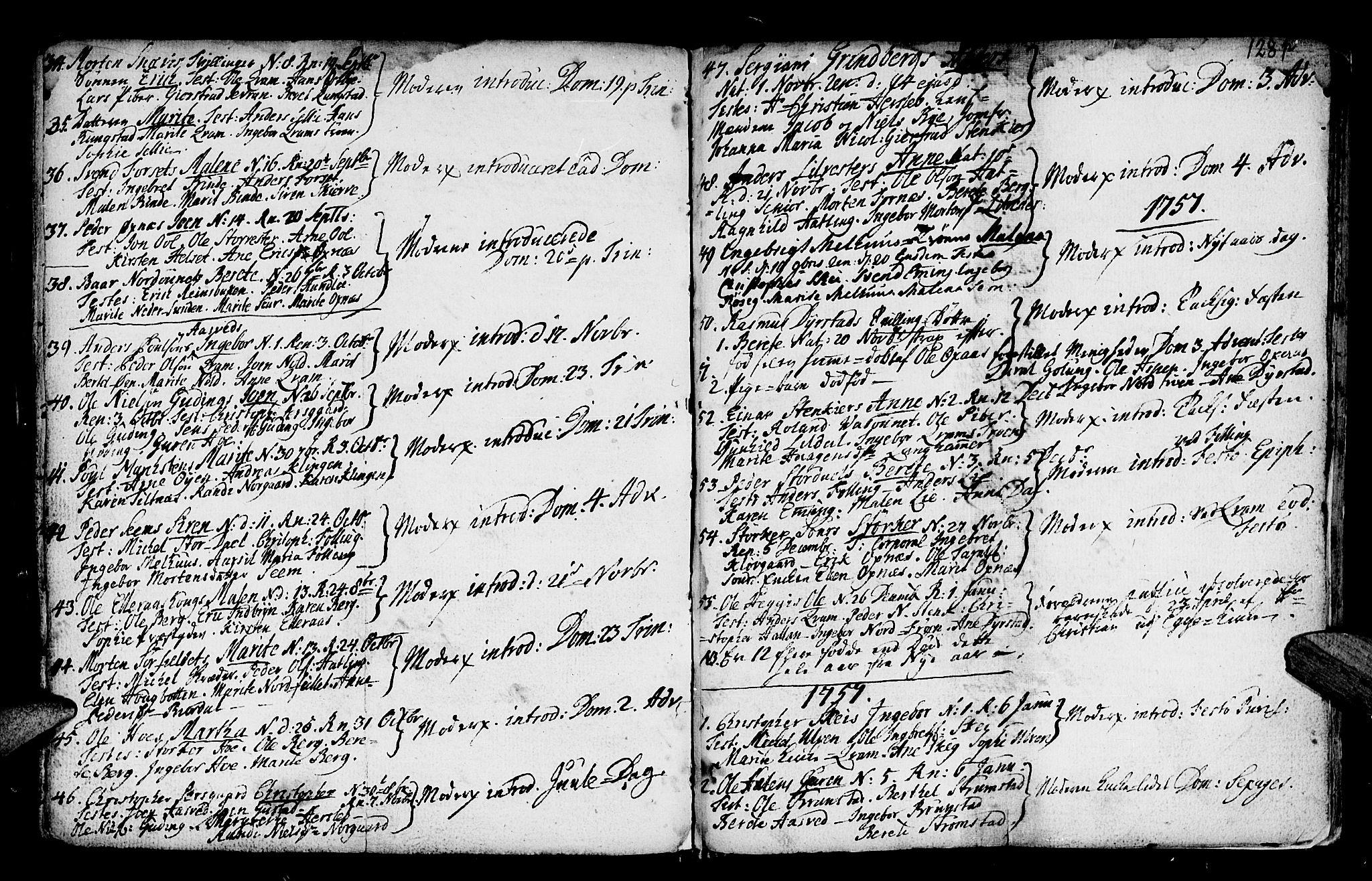 SAT, Ministerialprotokoller, klokkerbøker og fødselsregistre - Nord-Trøndelag, 746/L0439: Ministerialbok nr. 746A01, 1688-1759, s. 128o