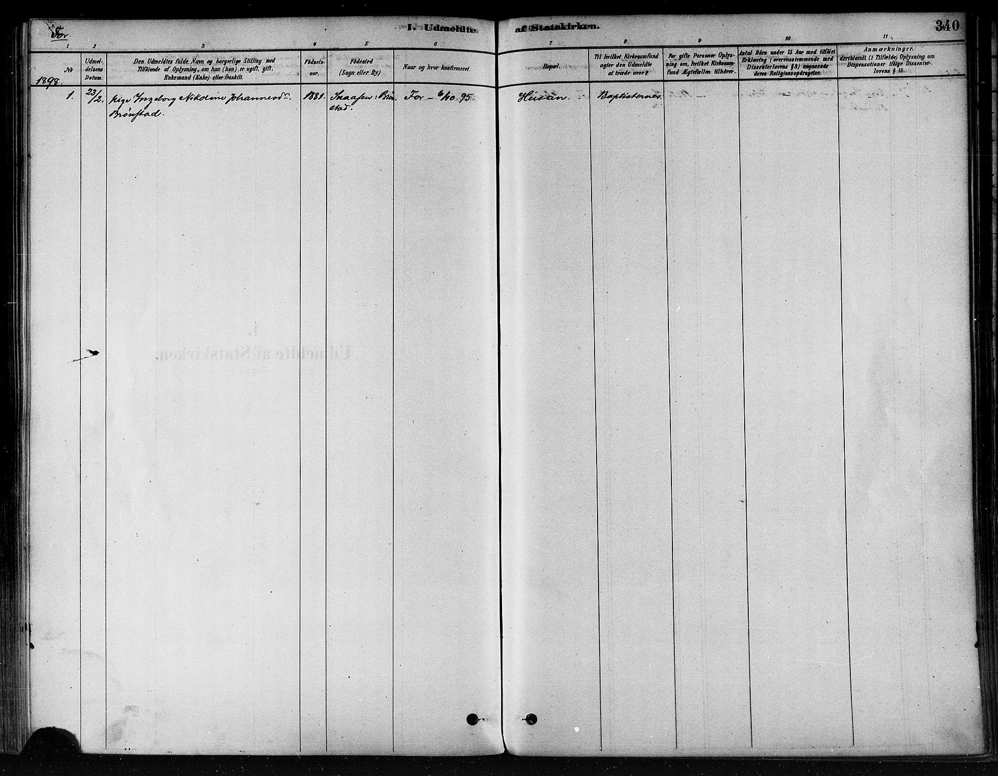 SAT, Ministerialprotokoller, klokkerbøker og fødselsregistre - Nord-Trøndelag, 746/L0448: Ministerialbok nr. 746A07 /1, 1878-1900, s. 340