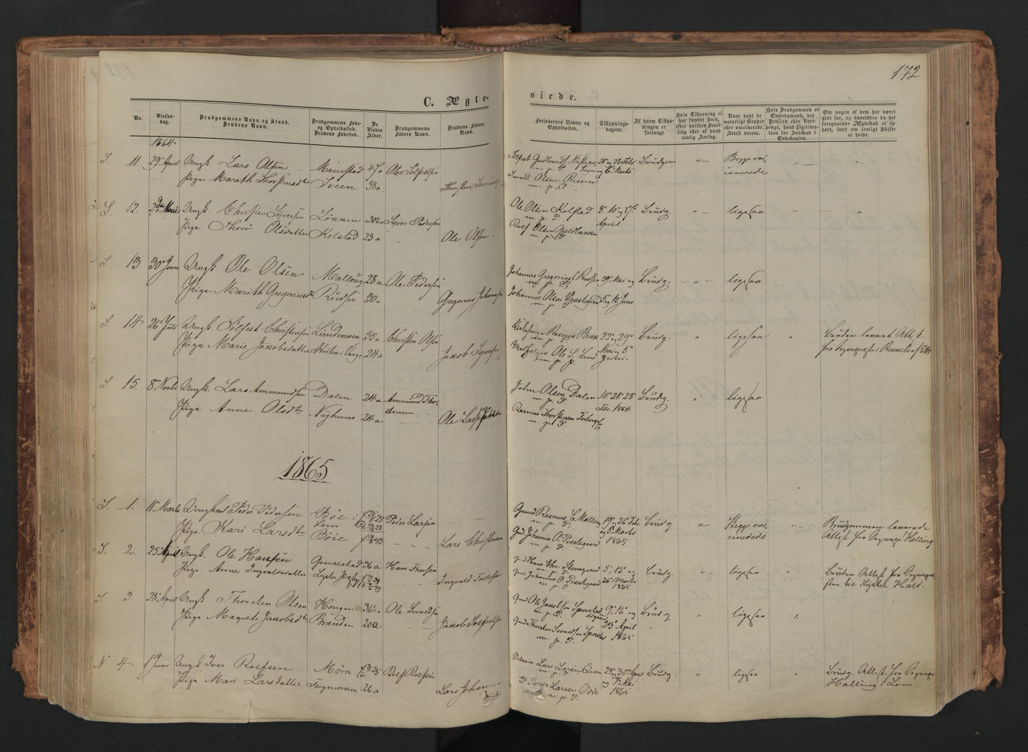SAH, Skjåk prestekontor, Ministerialbok nr. 1, 1863-1879, s. 172