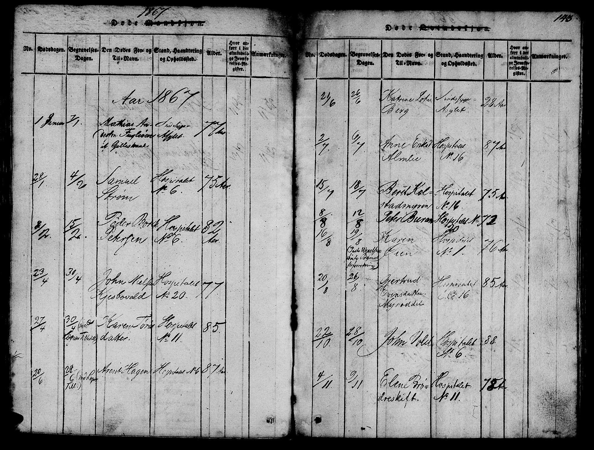 SAT, Ministerialprotokoller, klokkerbøker og fødselsregistre - Sør-Trøndelag, 623/L0478: Klokkerbok nr. 623C01, 1815-1873, s. 143