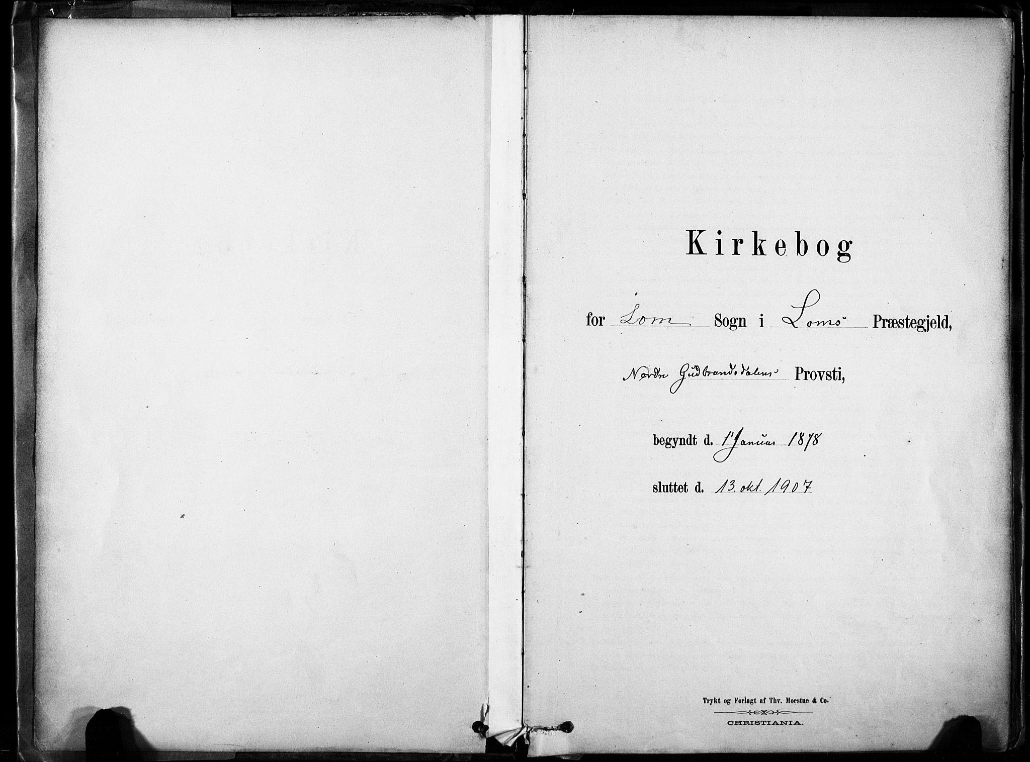 SAH, Lom prestekontor, K/L0009: Ministerialbok nr. 9, 1878-1907