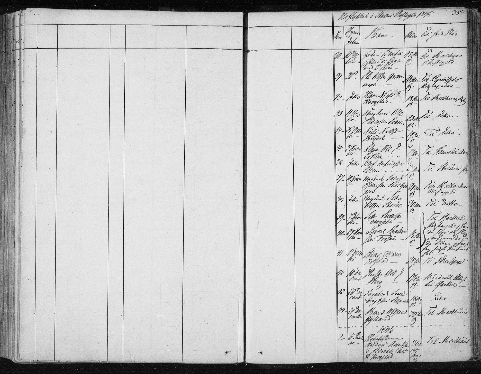 SAT, Ministerialprotokoller, klokkerbøker og fødselsregistre - Sør-Trøndelag, 687/L0997: Ministerialbok nr. 687A05 /1, 1843-1848, s. 357