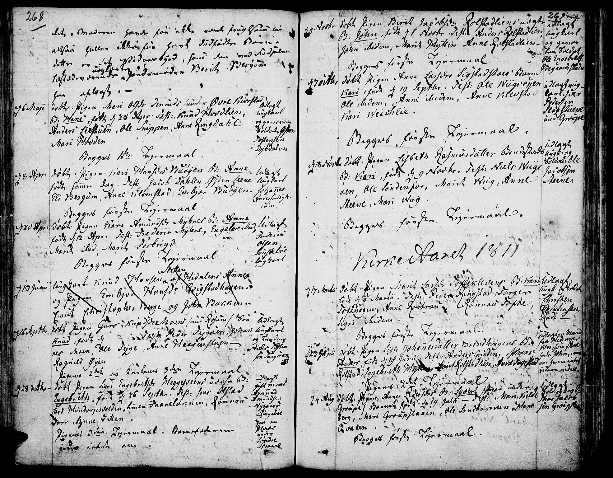 SAH, Fron prestekontor, H/Ha/Haa/L0001: Ministerialbok nr. 1, 1799-1816, s. 268-269