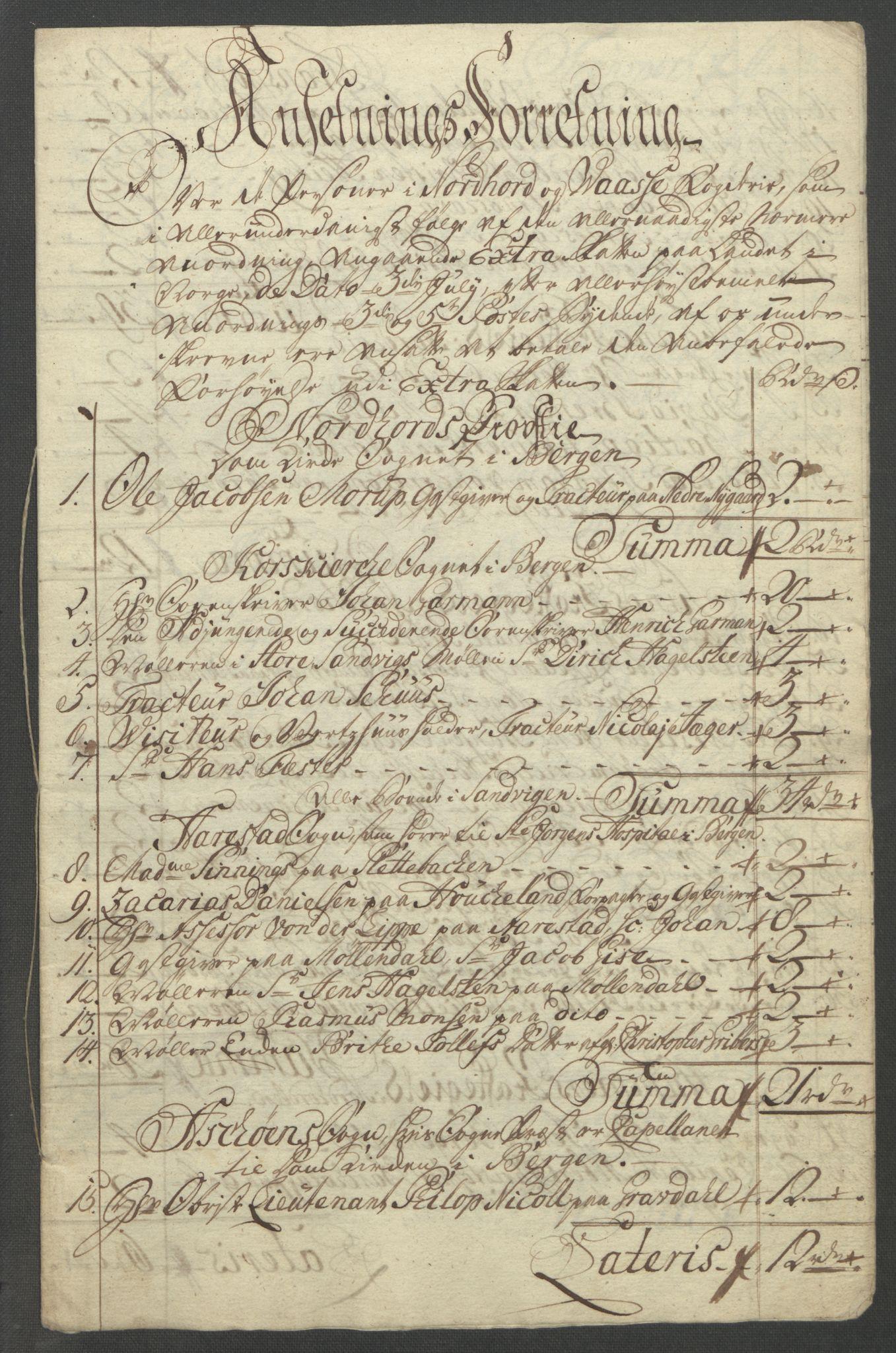RA, Rentekammeret inntil 1814, Reviderte regnskaper, Fogderegnskap, R51/L3303: Ekstraskatten Nordhordland og Voss, 1762-1772, s. 407