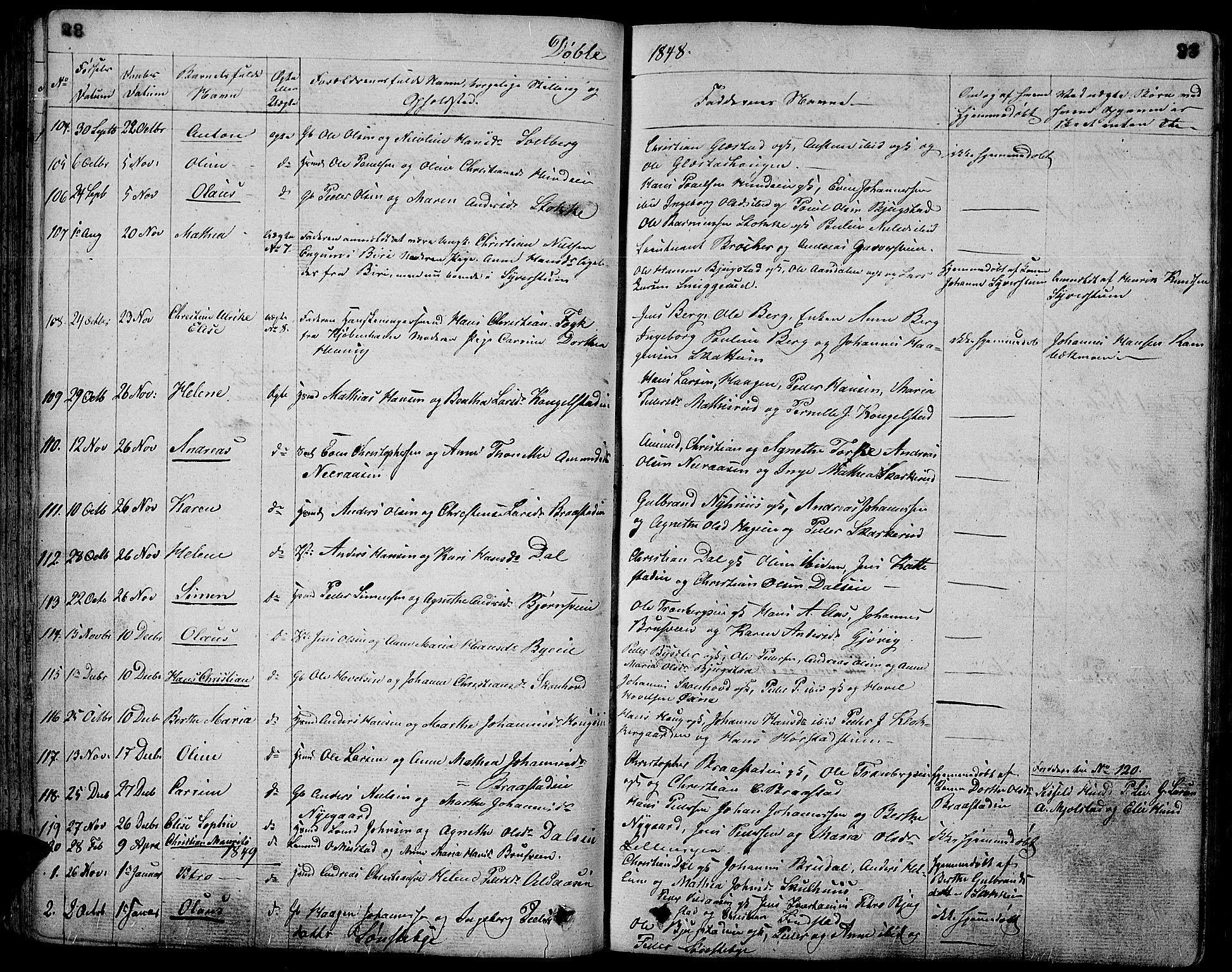 SAH, Vardal prestekontor, H/Ha/Hab/L0004: Klokkerbok nr. 4, 1831-1853, s. 83