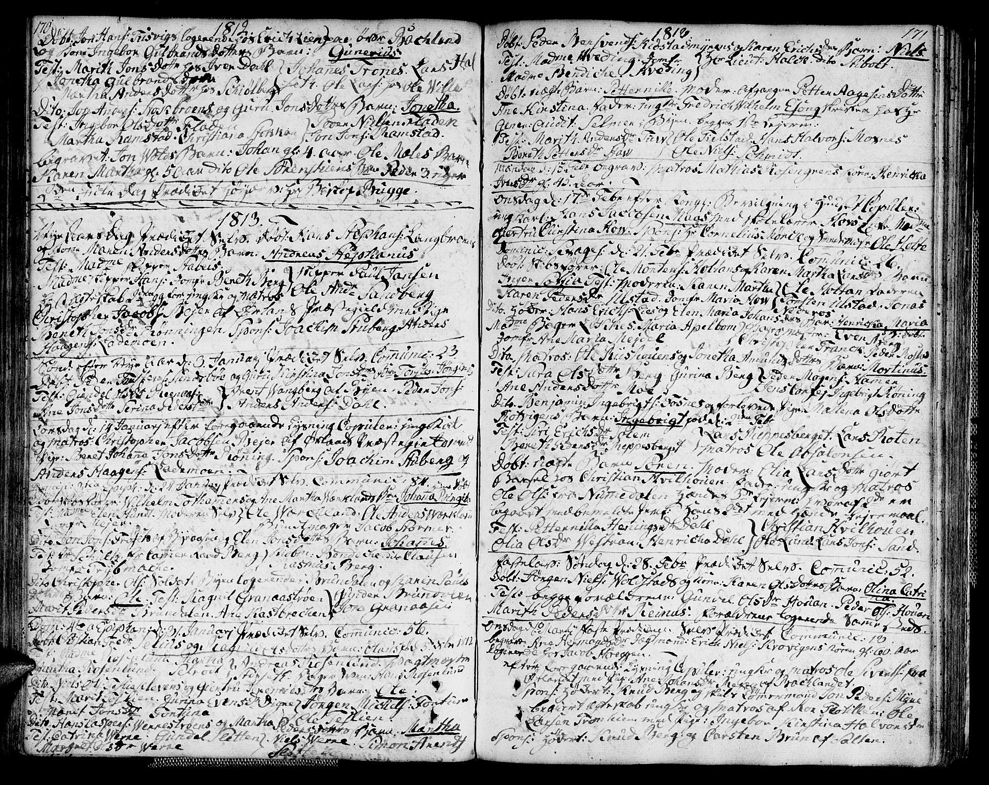 SAT, Ministerialprotokoller, klokkerbøker og fødselsregistre - Sør-Trøndelag, 604/L0181: Ministerialbok nr. 604A02, 1798-1817, s. 170-171