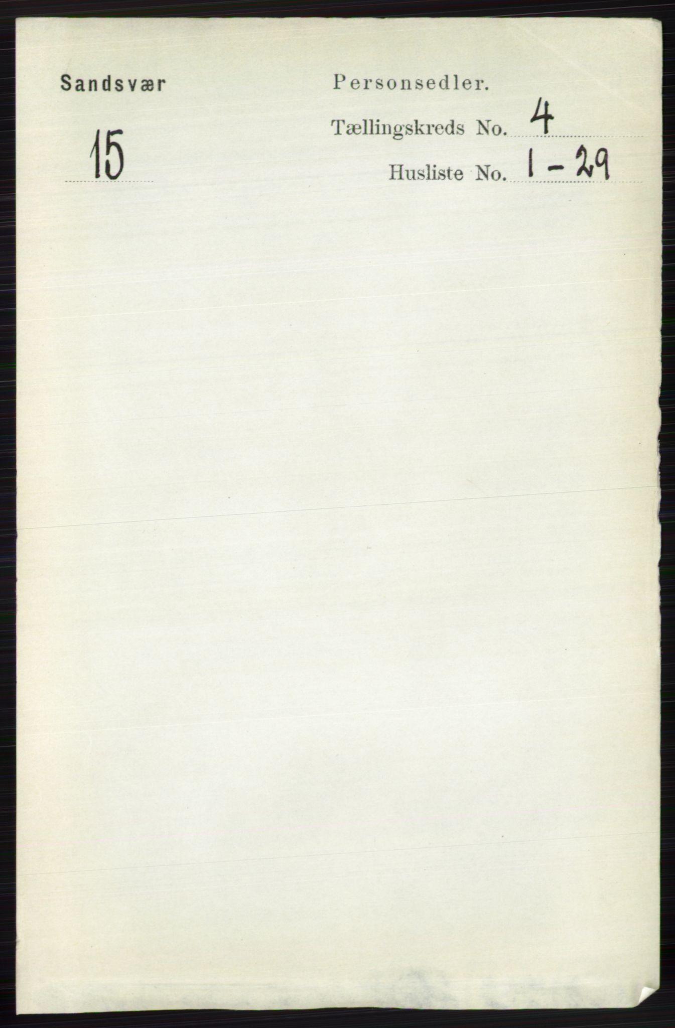 RA, Folketelling 1891 for 0629 Sandsvær herred, 1891, s. 1837